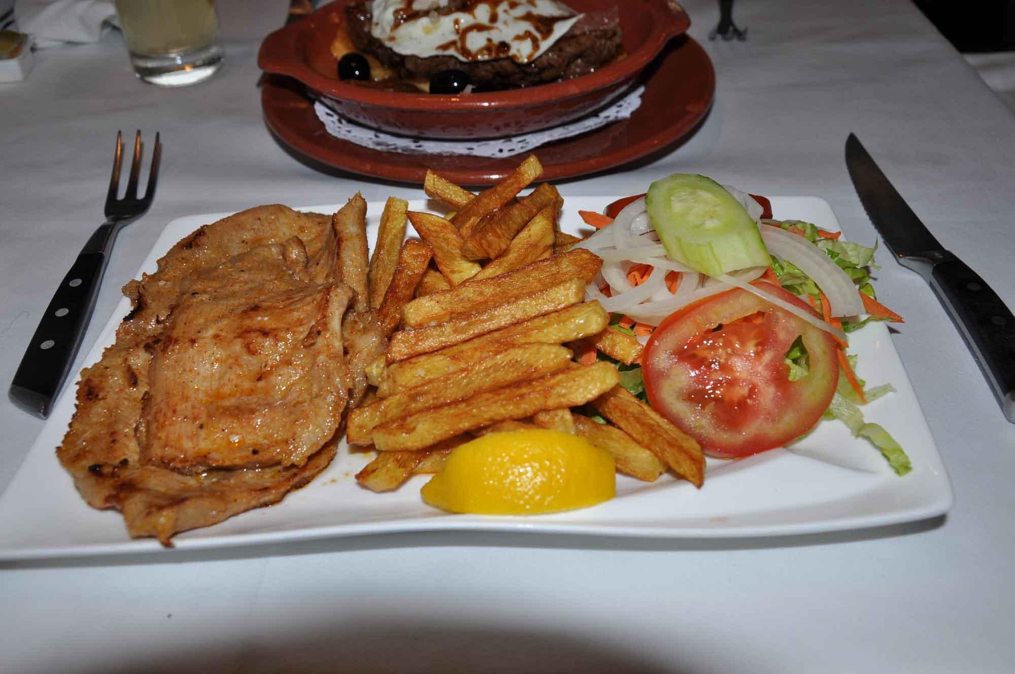 Antonio Macau pork with fries