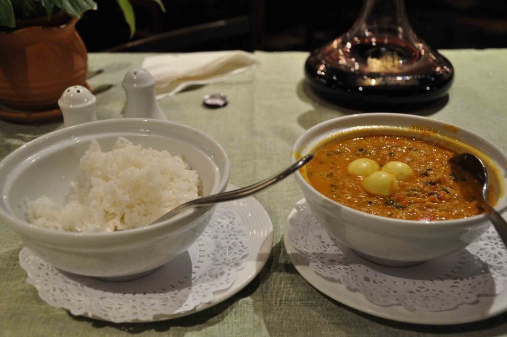 Litoral Macau curry shrimp with crab meat
