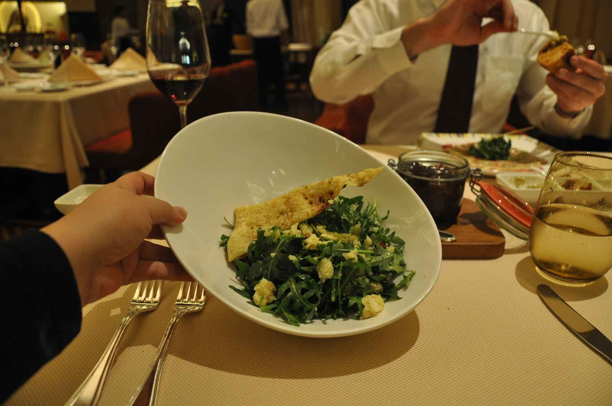Terrazza Macau aragula salad