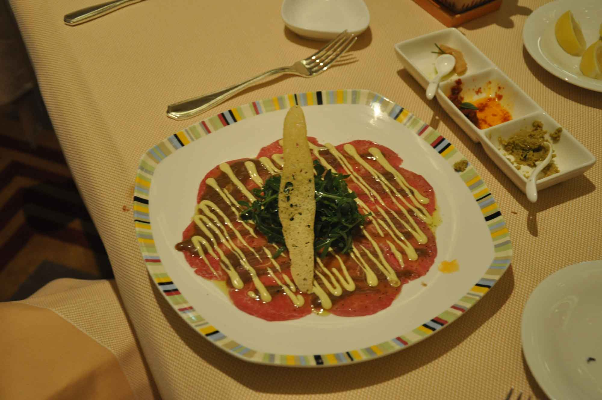 Terrazza Macau beef carpaccio