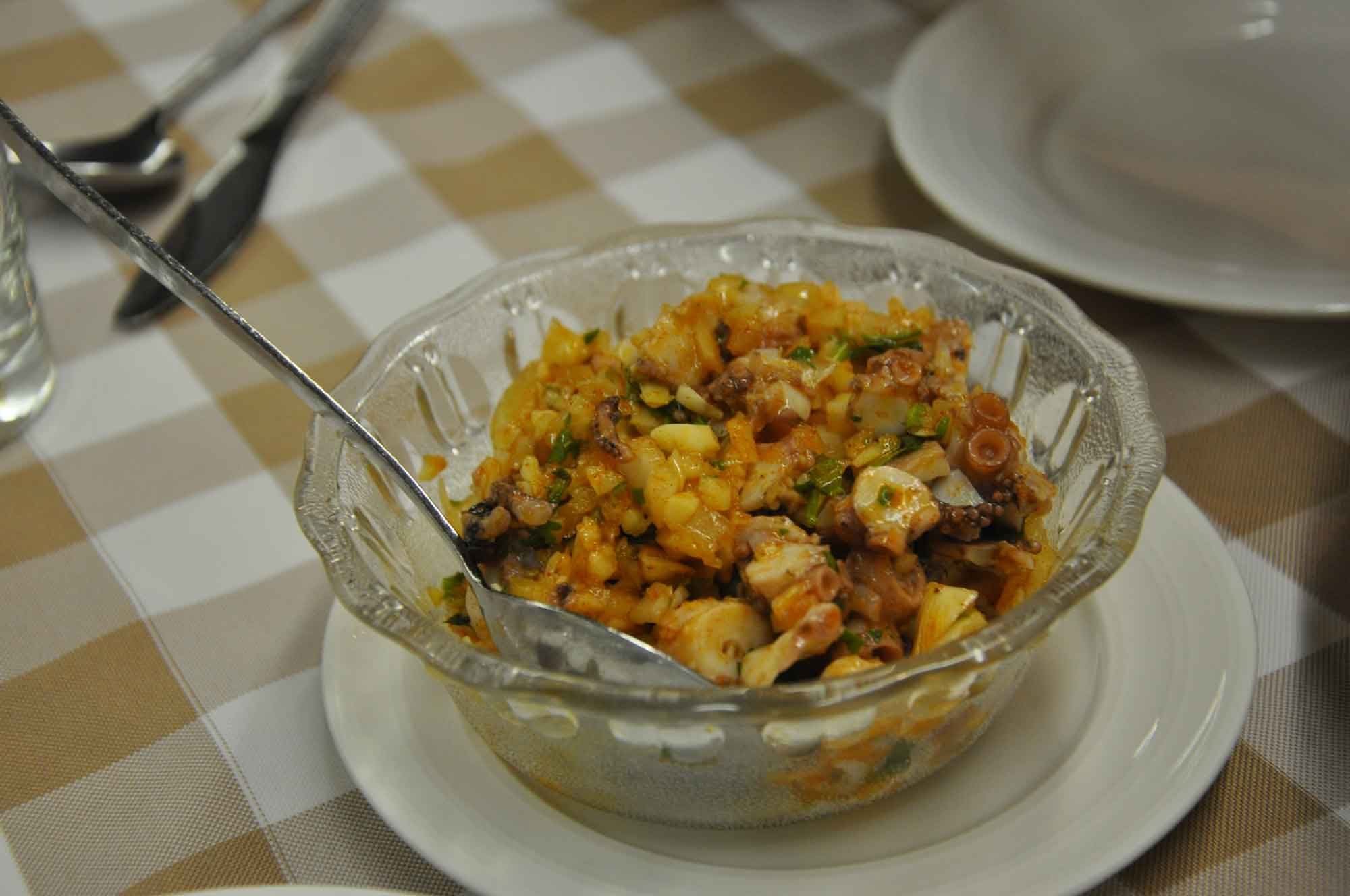 A Lorcha Macau octopus salad