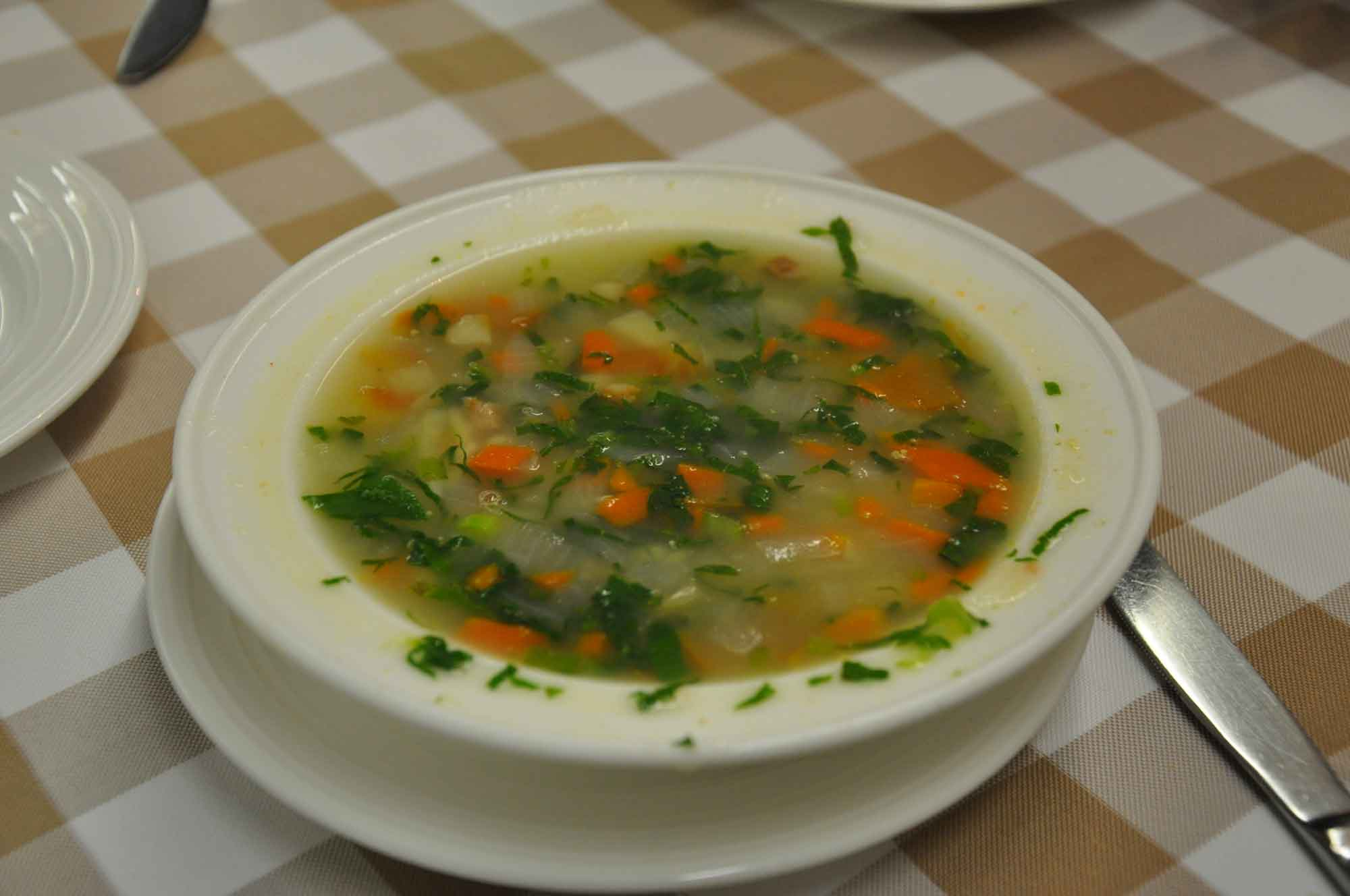 A Lorcha Macau vegetable soup