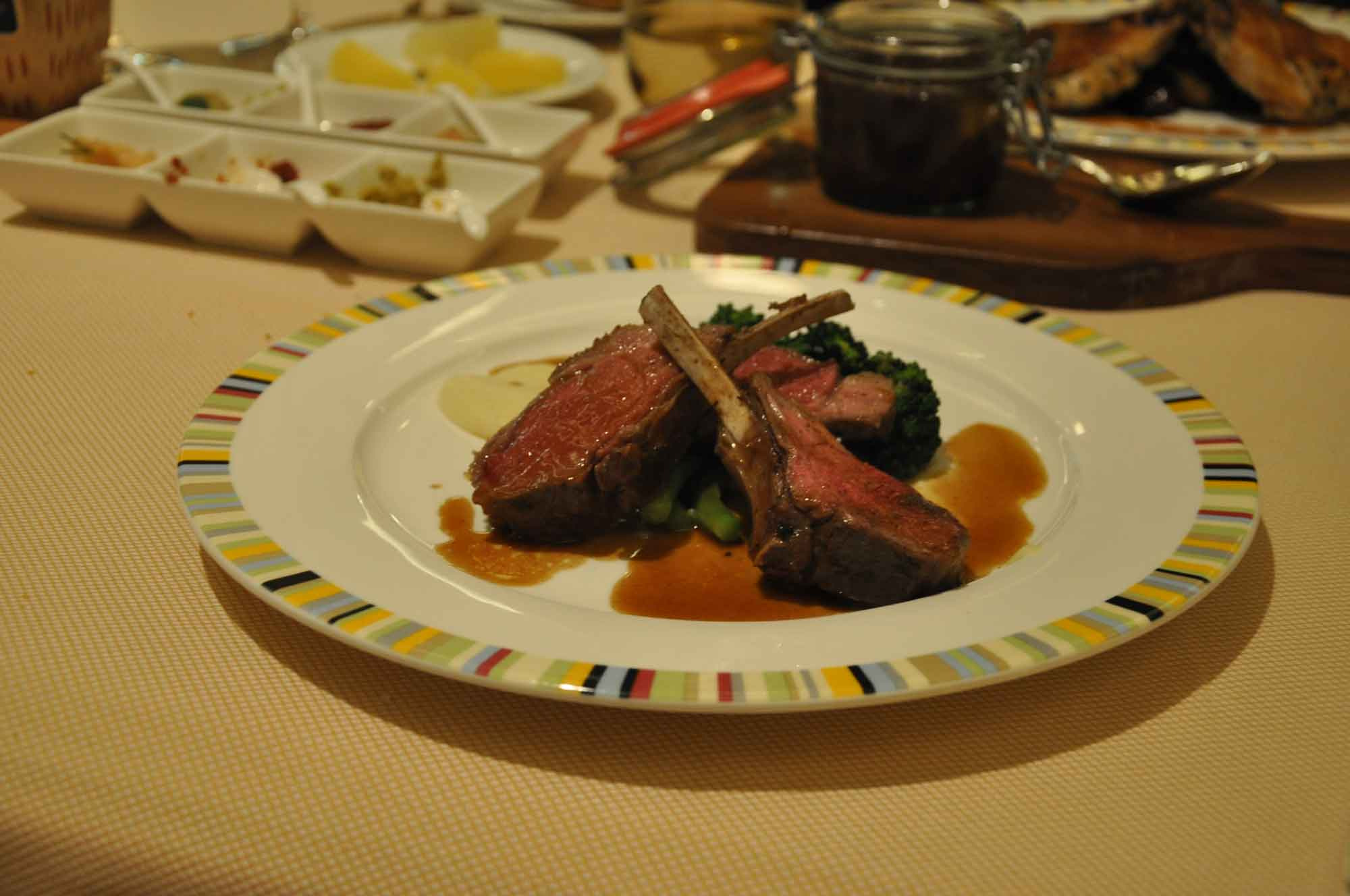 Terrazza Macau rack of lamb