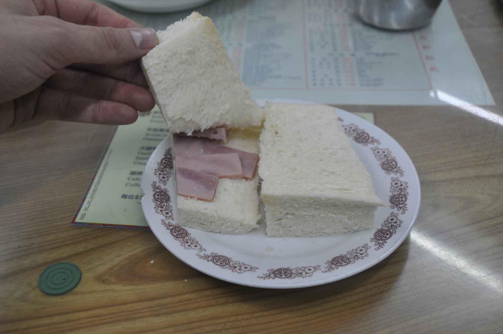 Cafe Nam Ping Ham sandwich