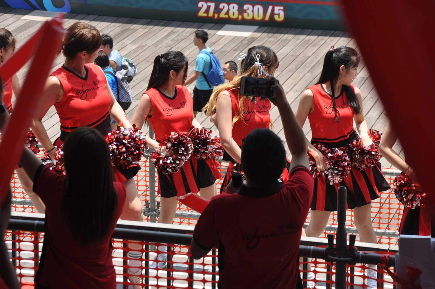 Macau Dragonboat Races Wynn cheerleaders