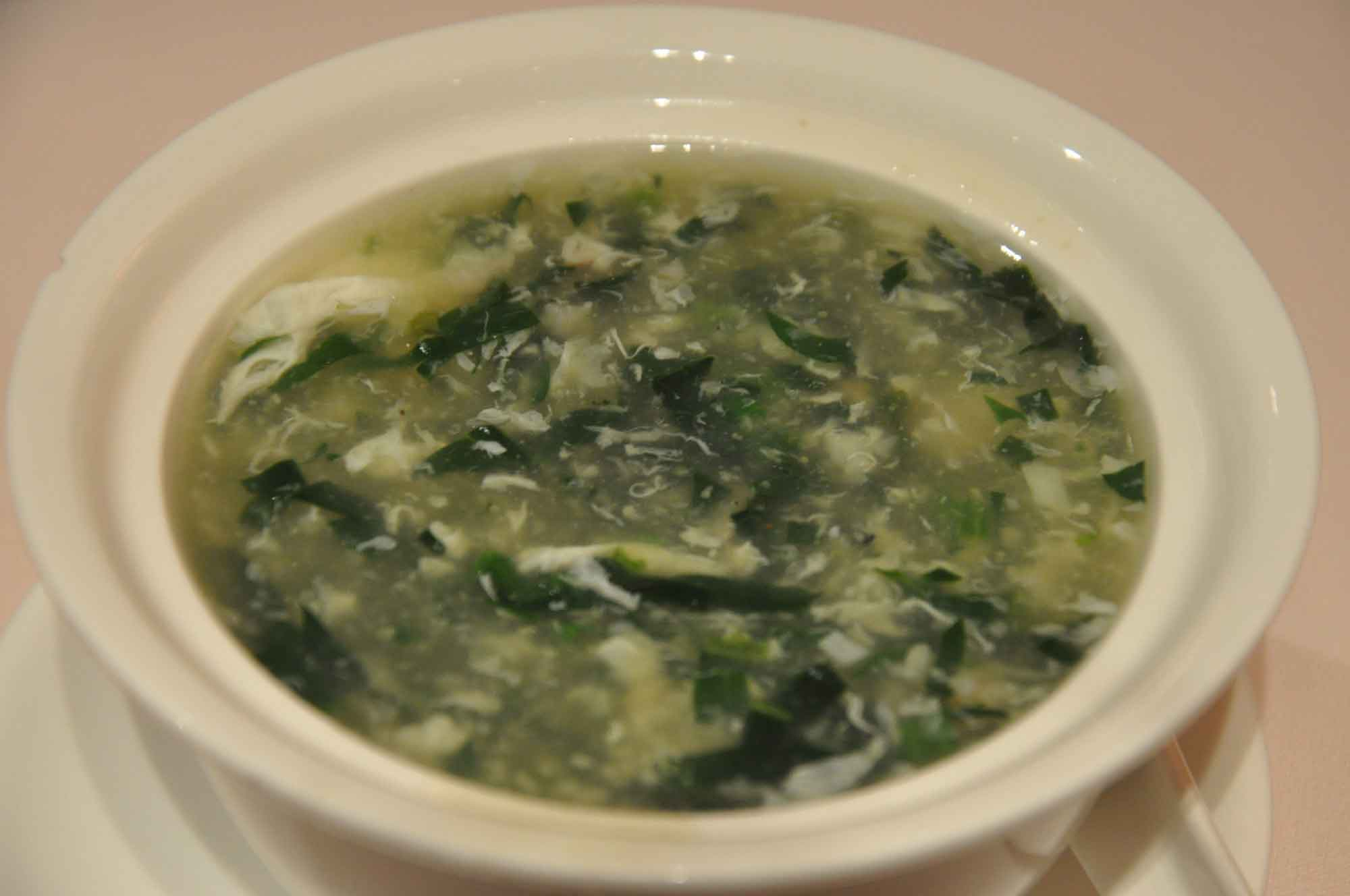 Catalpa Garden spinach soup