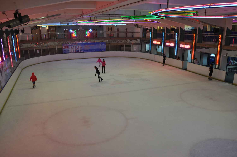 ice skating rink at Future Bright Amusement Park Macau