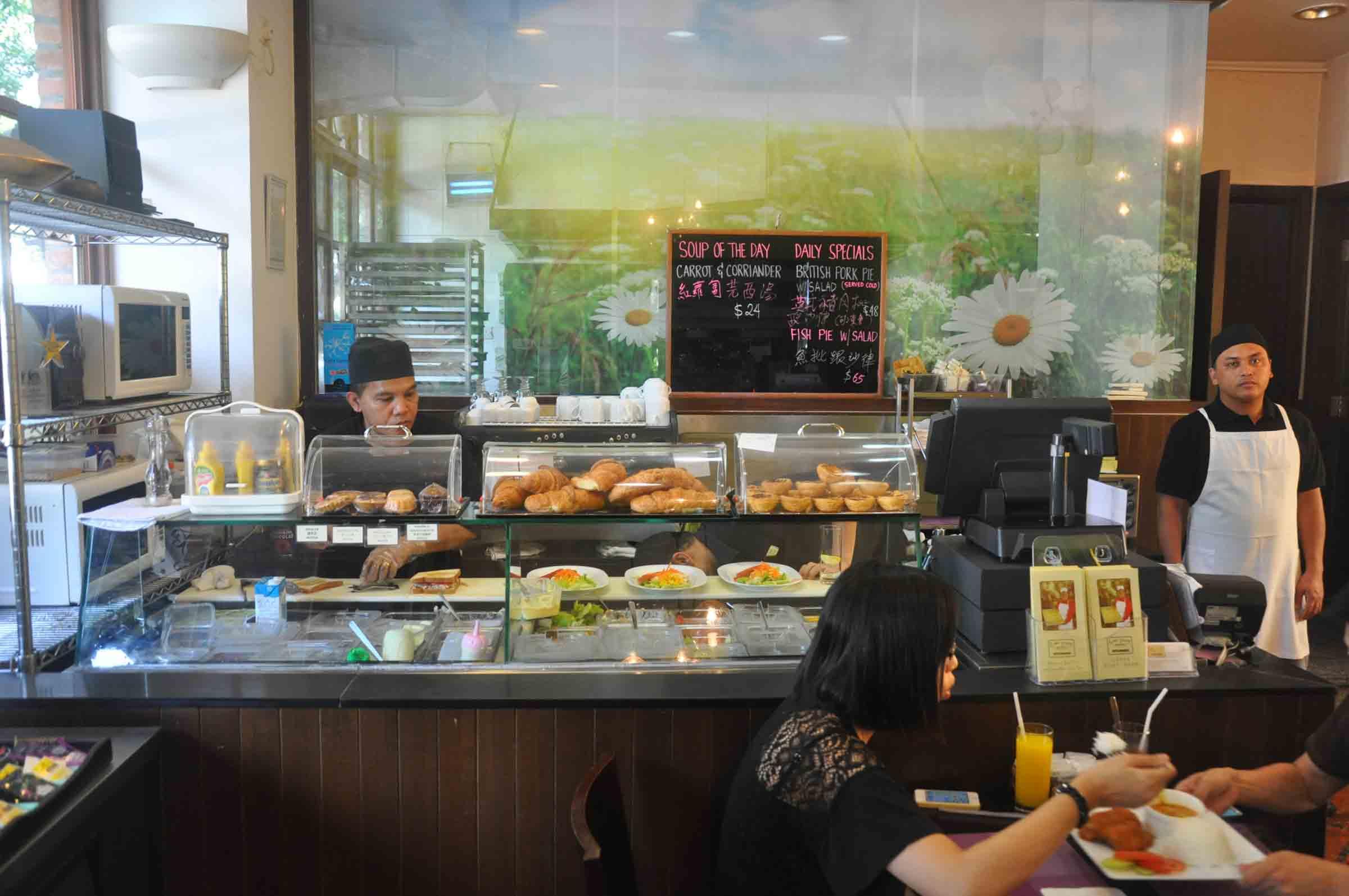 Lord Stows Garden Cafe counter
