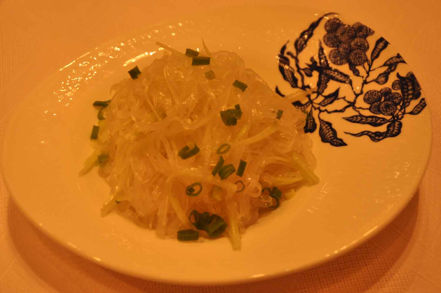 Golden Flower Macau Tossed Starched Noodles and Cucumbers with Mustard