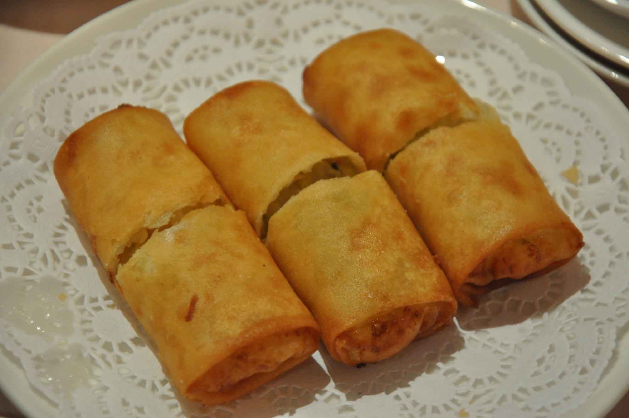 Catalpa Garden fried spring rolls