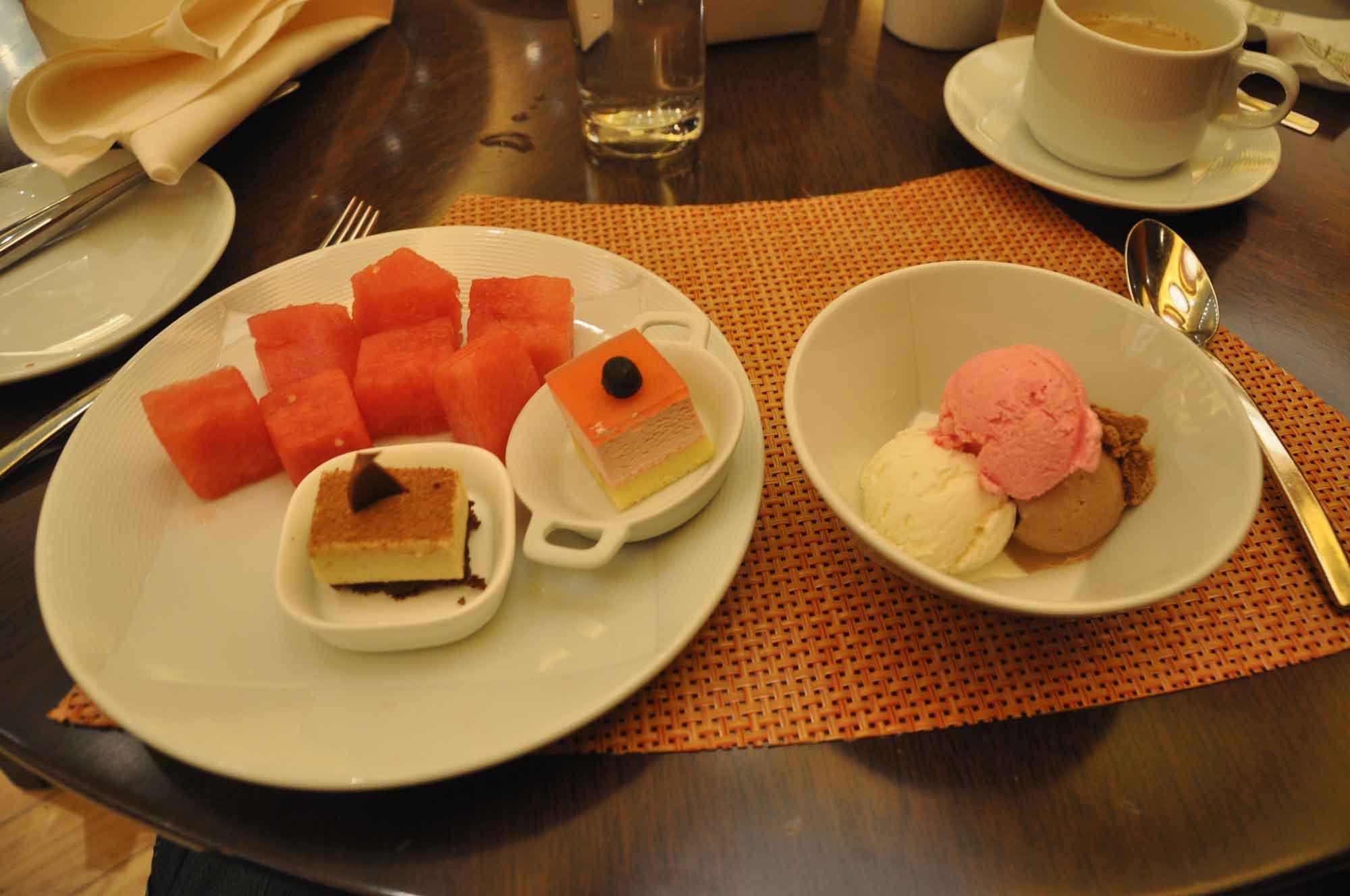 Grand Orbit Macau fruit, cake and ice cream