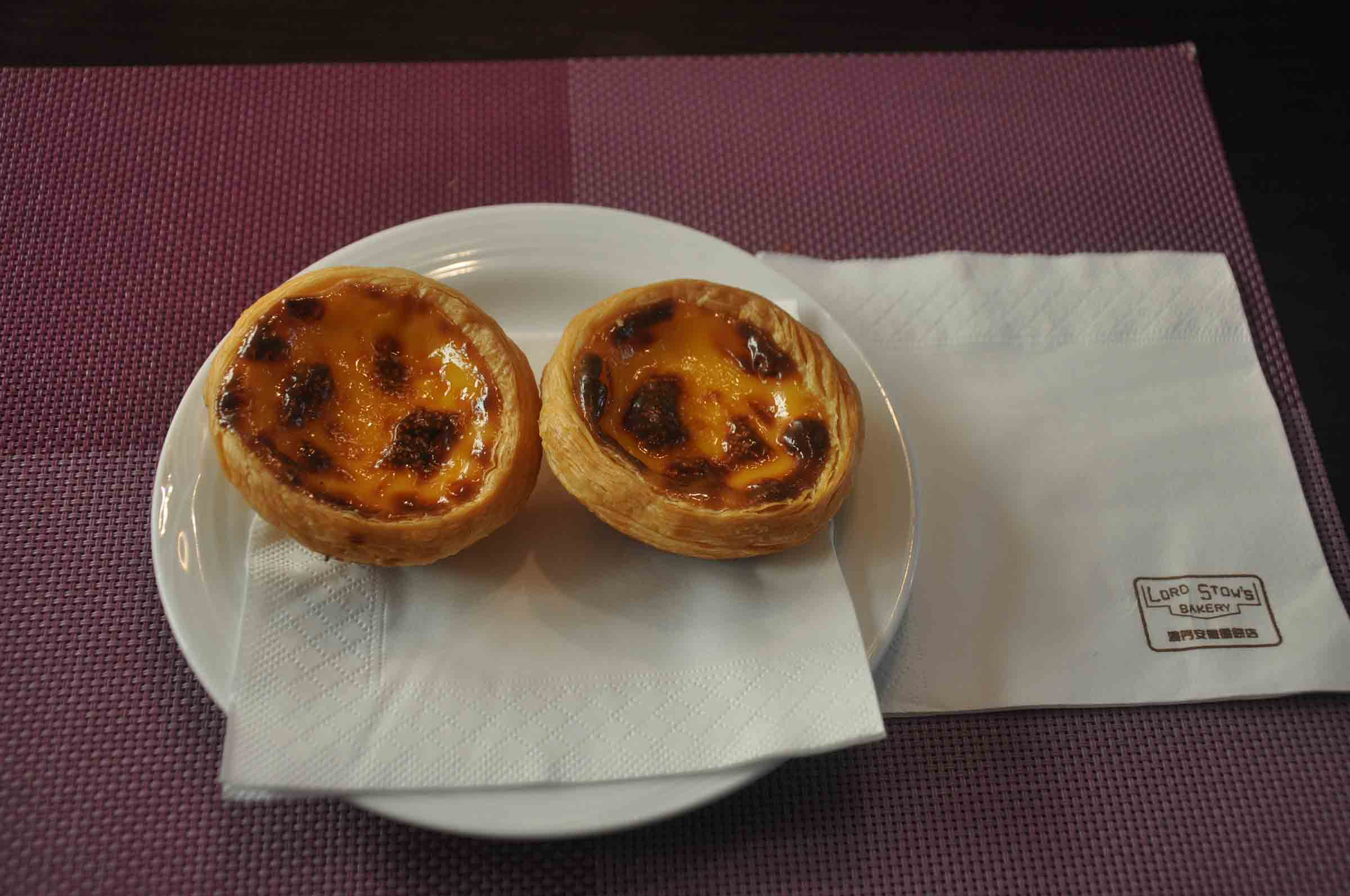egg tarts at Lord Stows