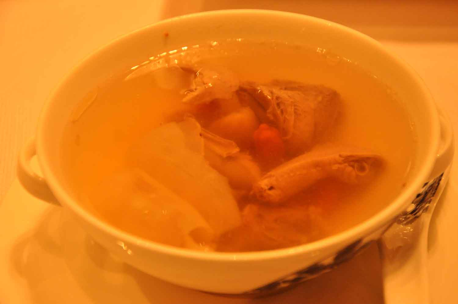 Golden Flower Macau Double Boiled Pigeon Soup with Tian Ma and Figs