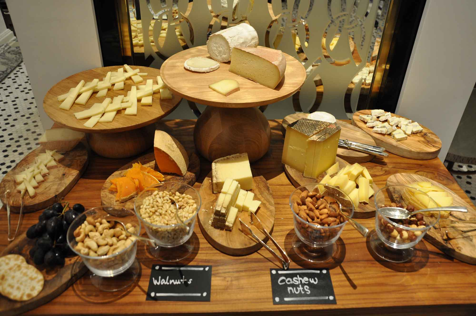 Ritz-Carlton Cafe Macau cheese and nuts
