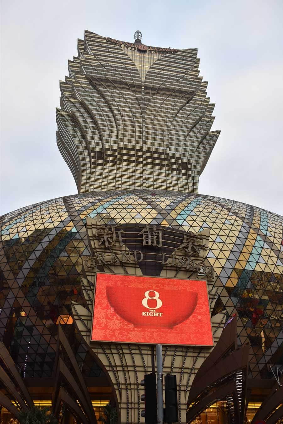 Macau casinos, Grand Lisboa Macau exterior