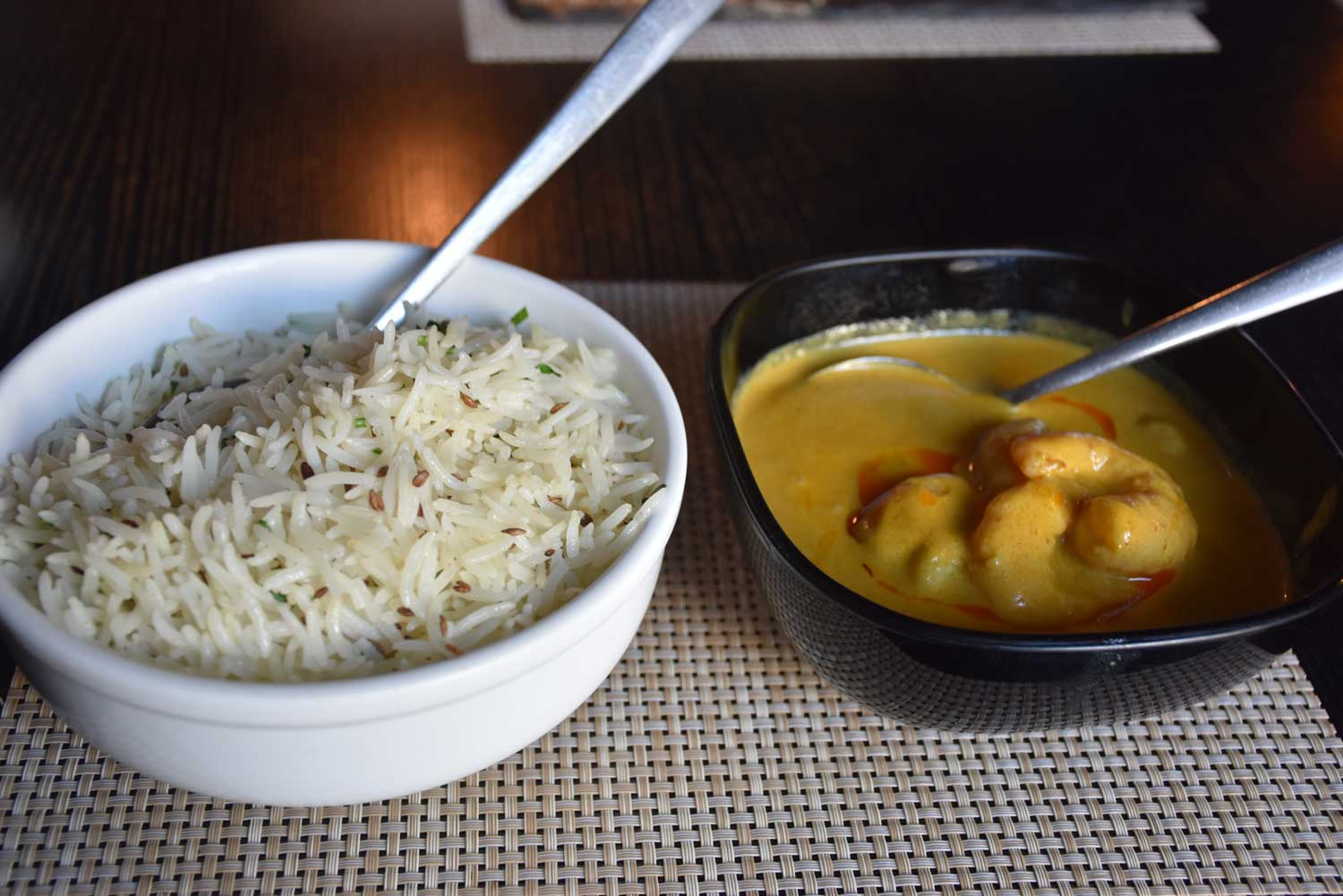 Indian Spice coconut prawn curry