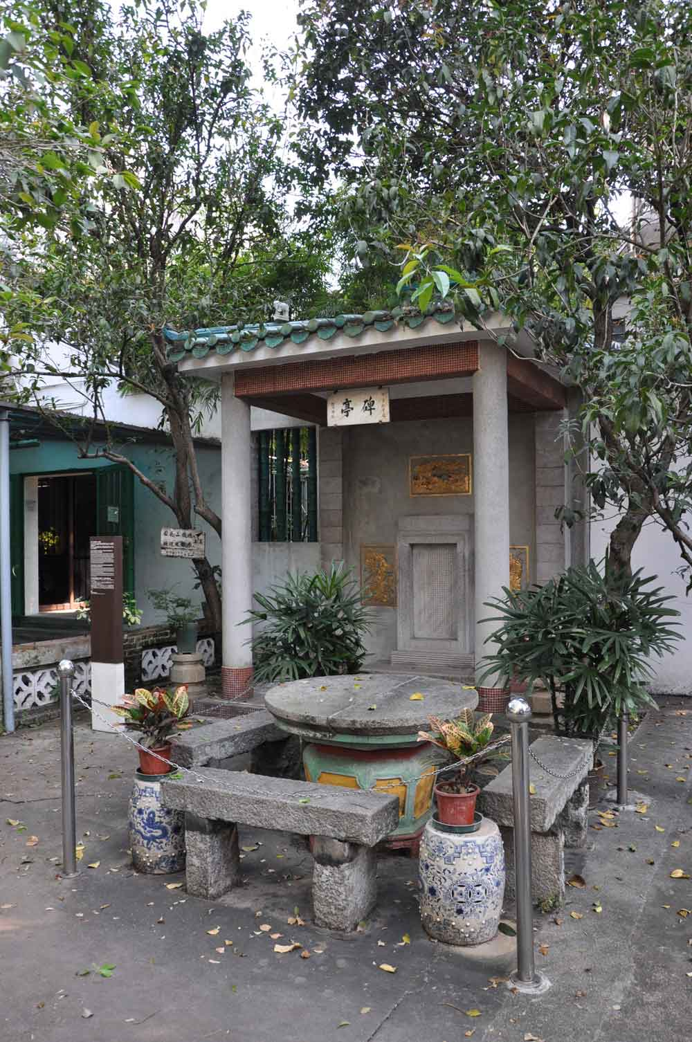 Kun Iam Temple stone table where they signed the Treaty of Mong Ha