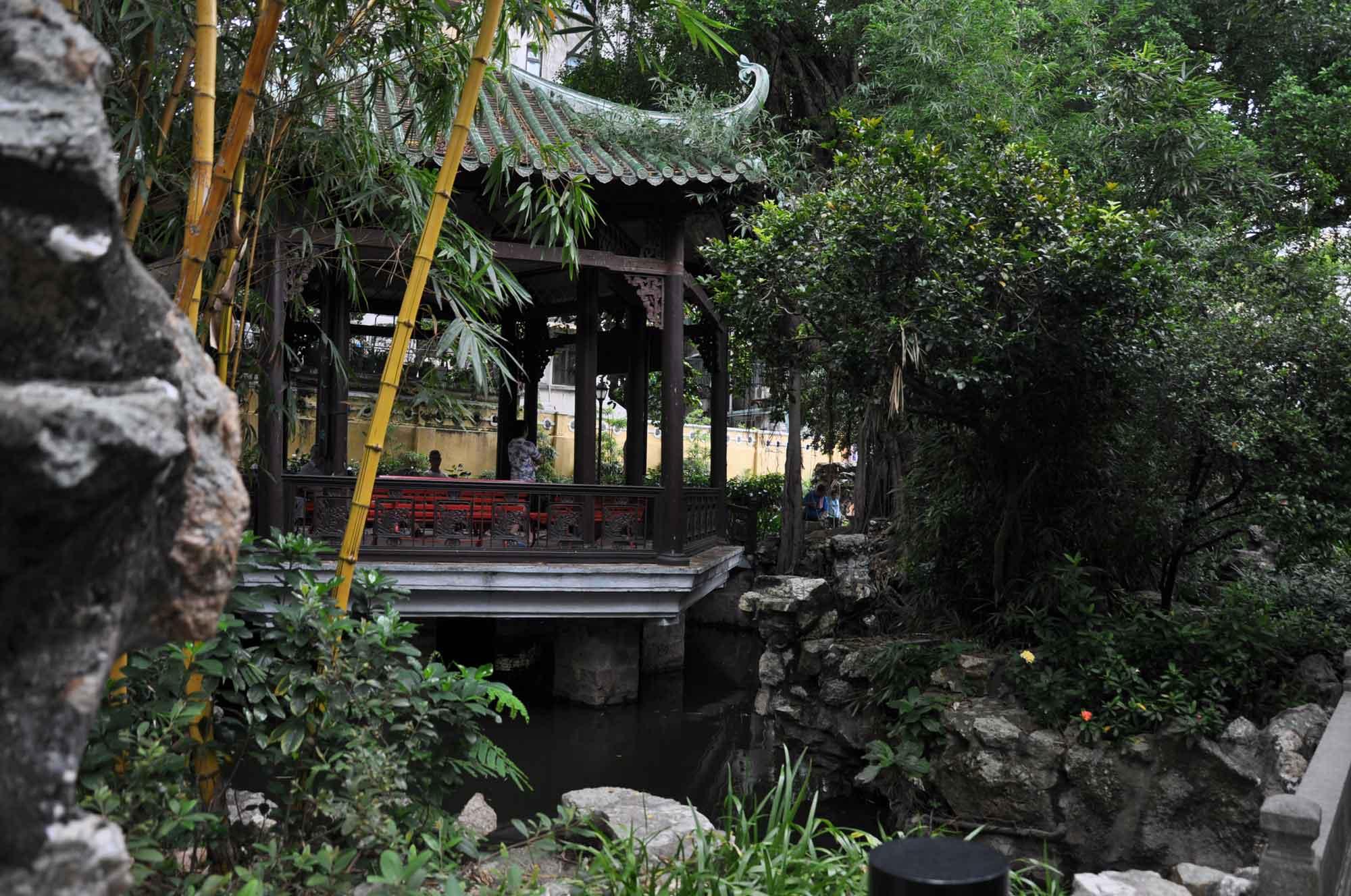 Lou Lim Ieoc Garden wooden pavilion