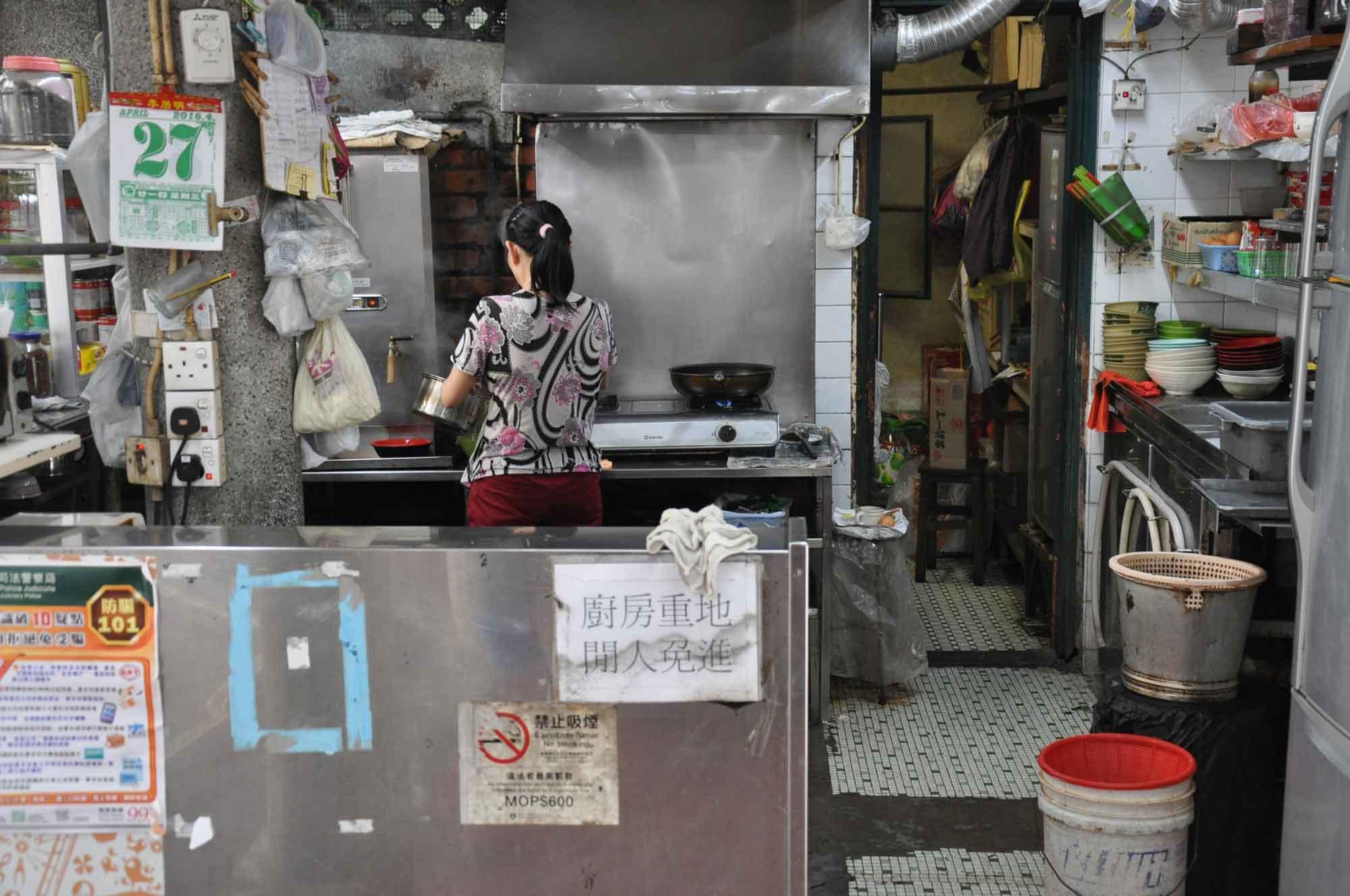 San Kiu Teahouse Macau pay counter