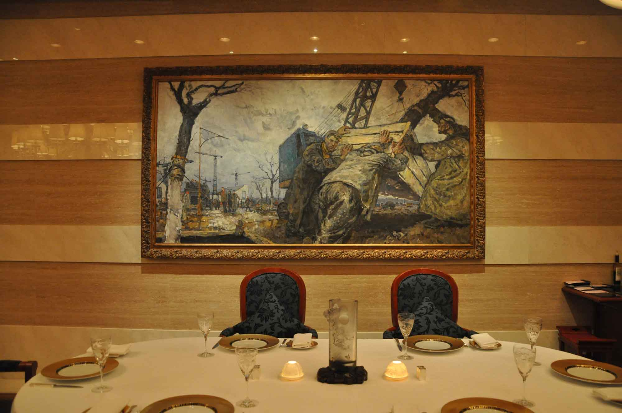 Casa Don Alfonso Macau painting and table