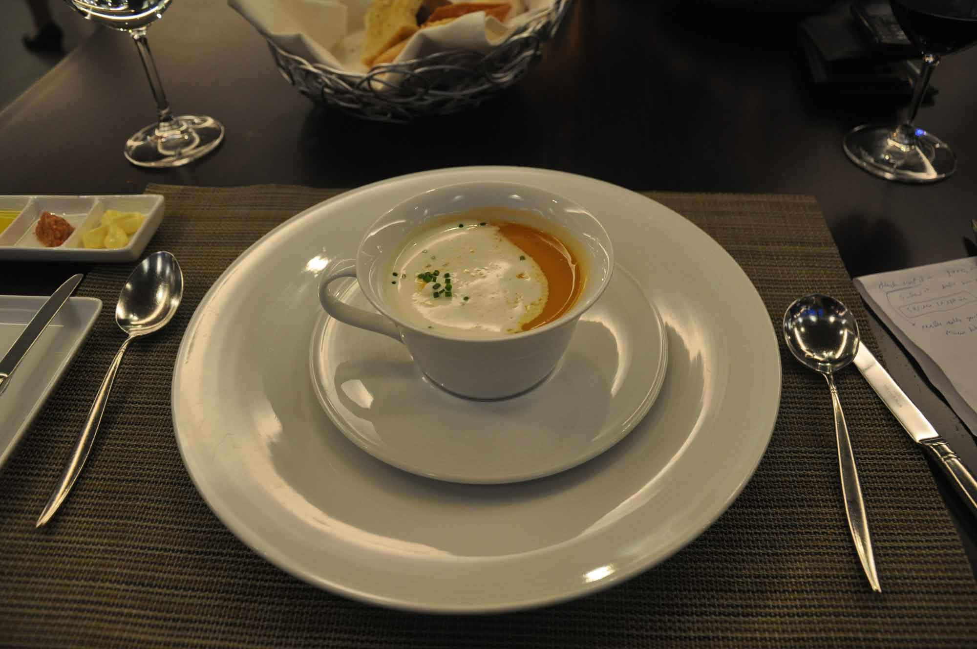 IFT Educational Restaurant lobster cappuccino soup