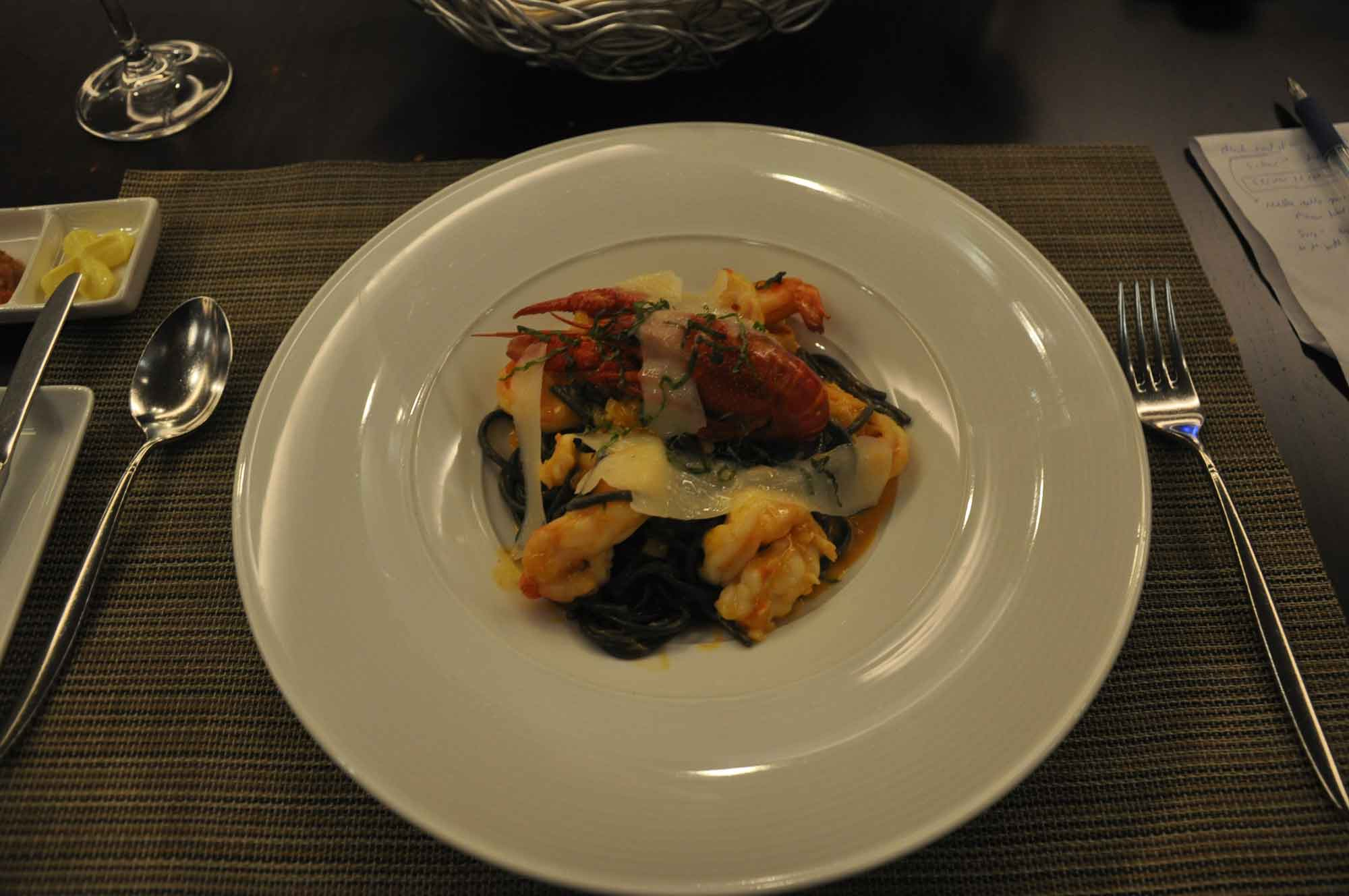 IFT Educational Restaurant Squid Ink with Prawns