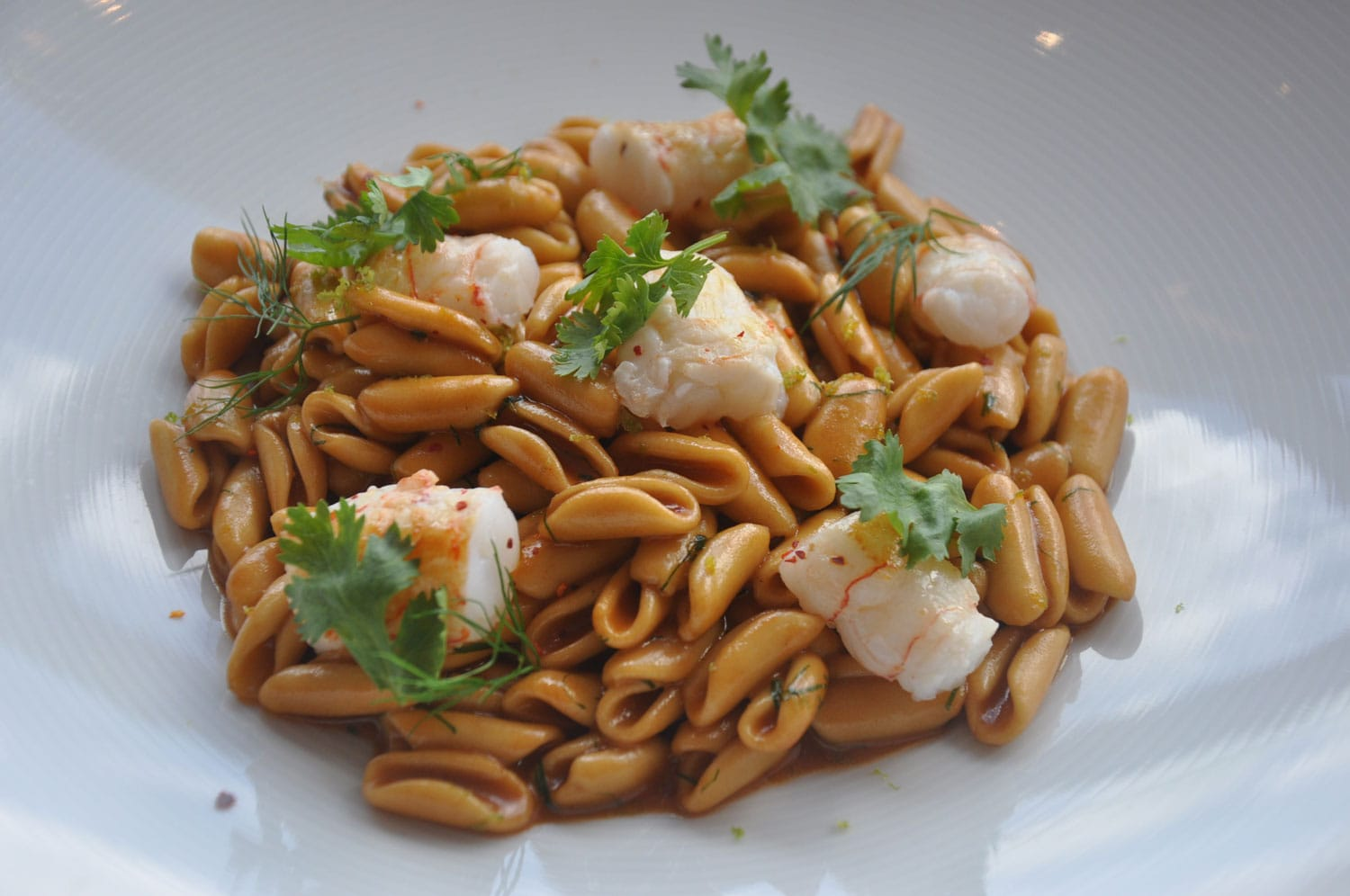 Aurora Macau Lime Cavatelli with Shrimp Pepper
