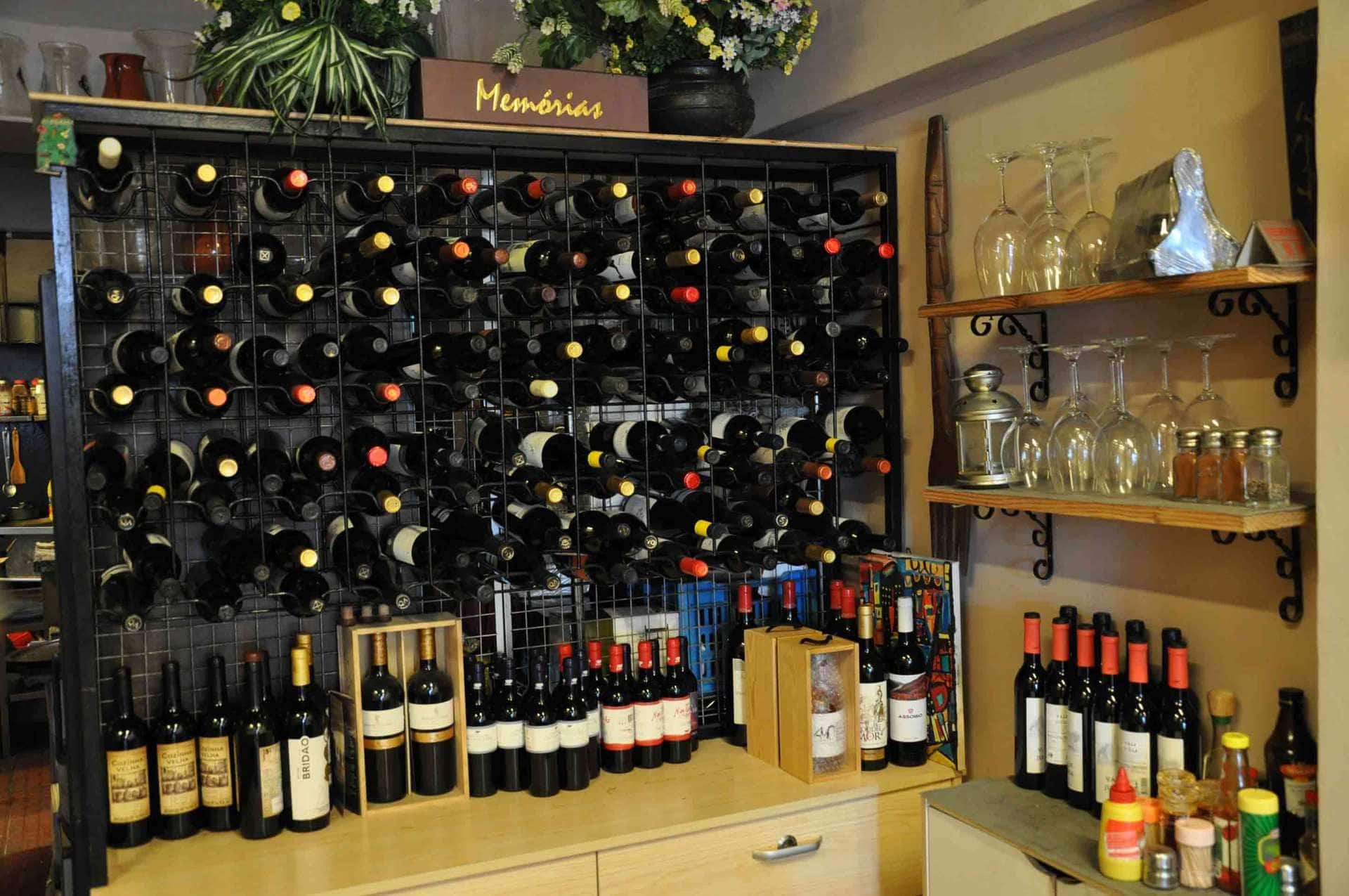 Cafe Xina Macau wine rack