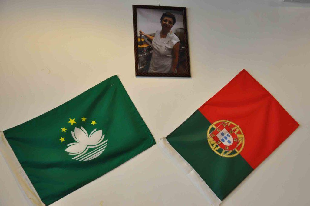 A Baia Macau Portuguese and Macau flags