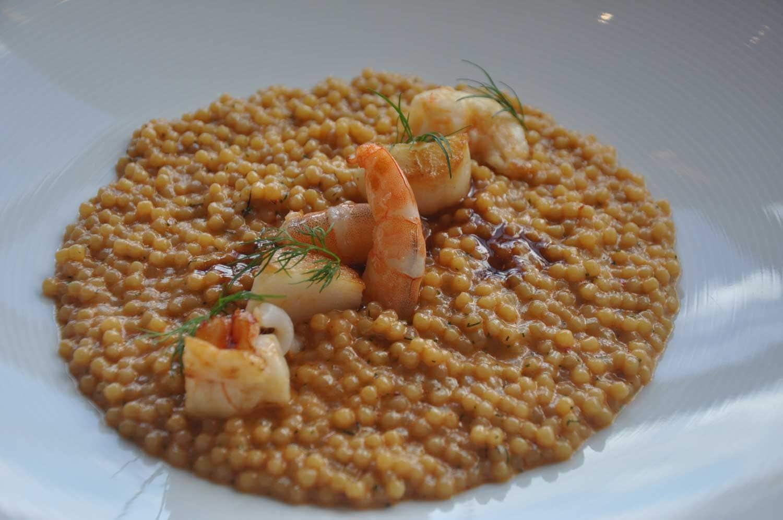 Aurora Macau shrimp pasta