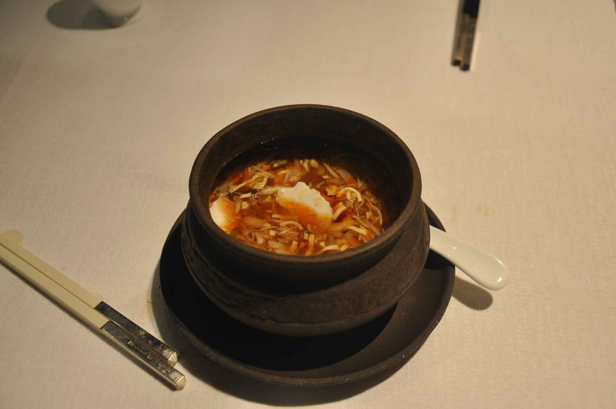 Jade Dragon Macau sour crab soup