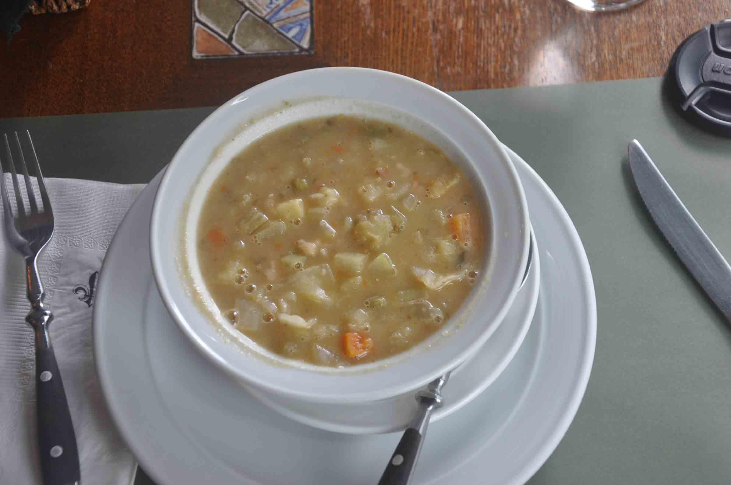 Antica Trattoria Da Isa minestrone soup