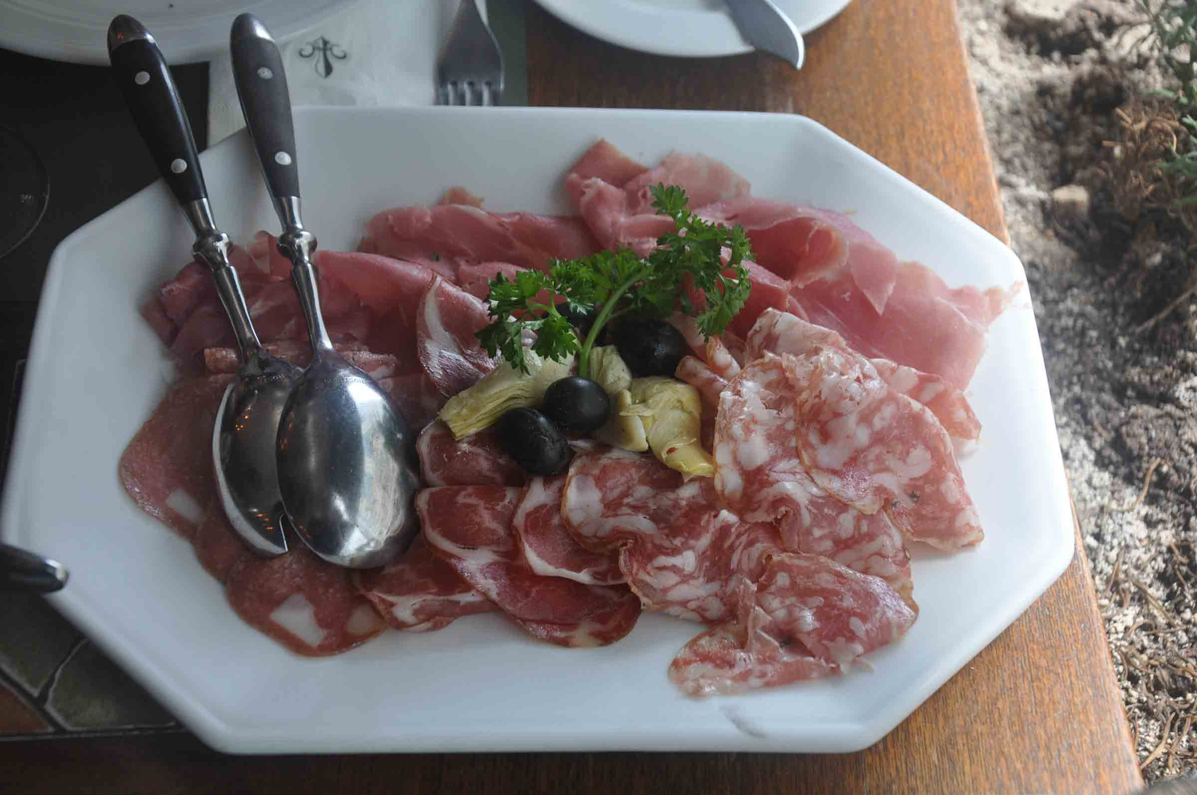 Antica Trattoria Da Isa cold cut selection