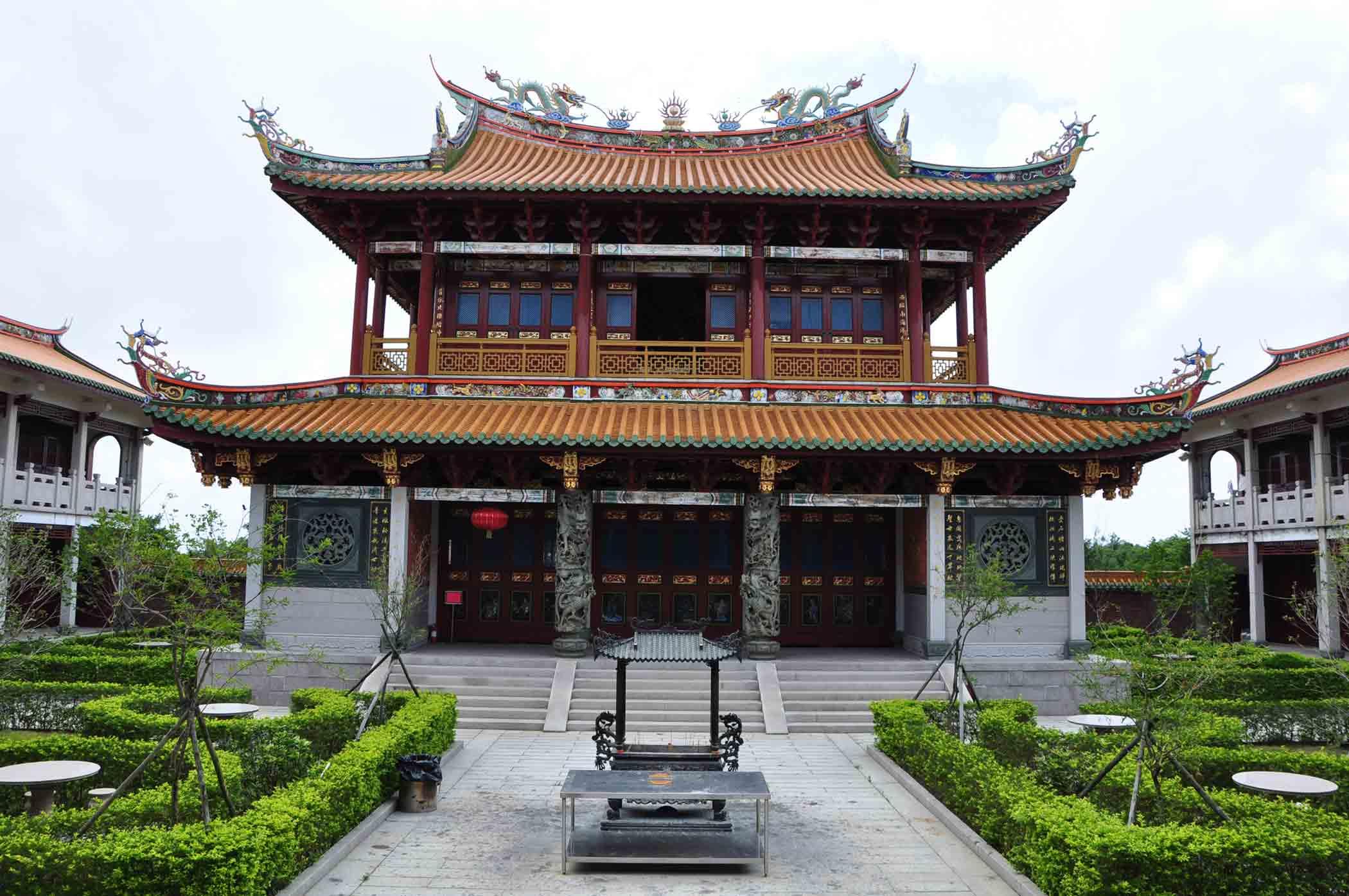 A Ma Cultural Village rear temple