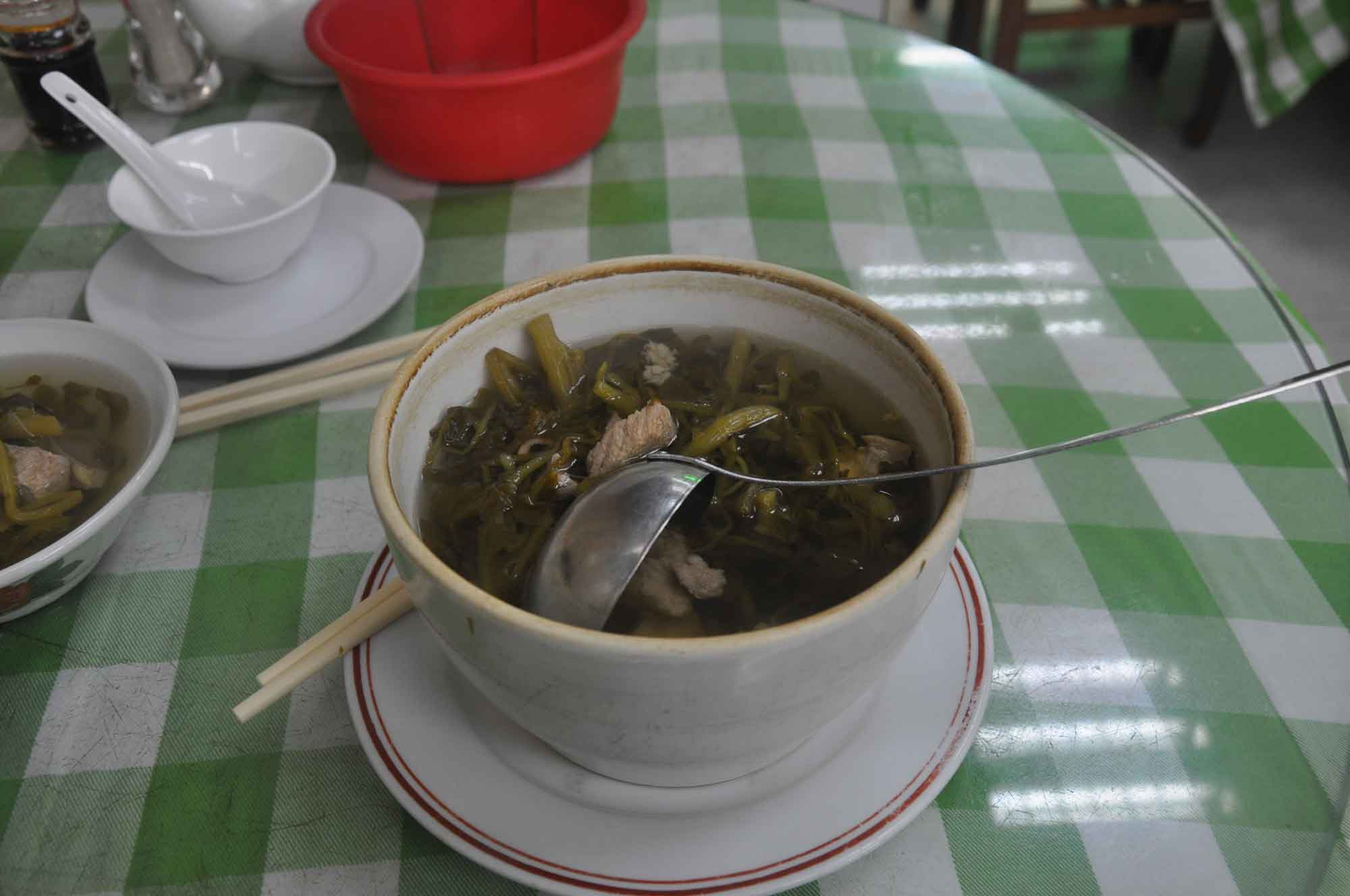 Mou Kei seafood restaurant pork and vegetable soup