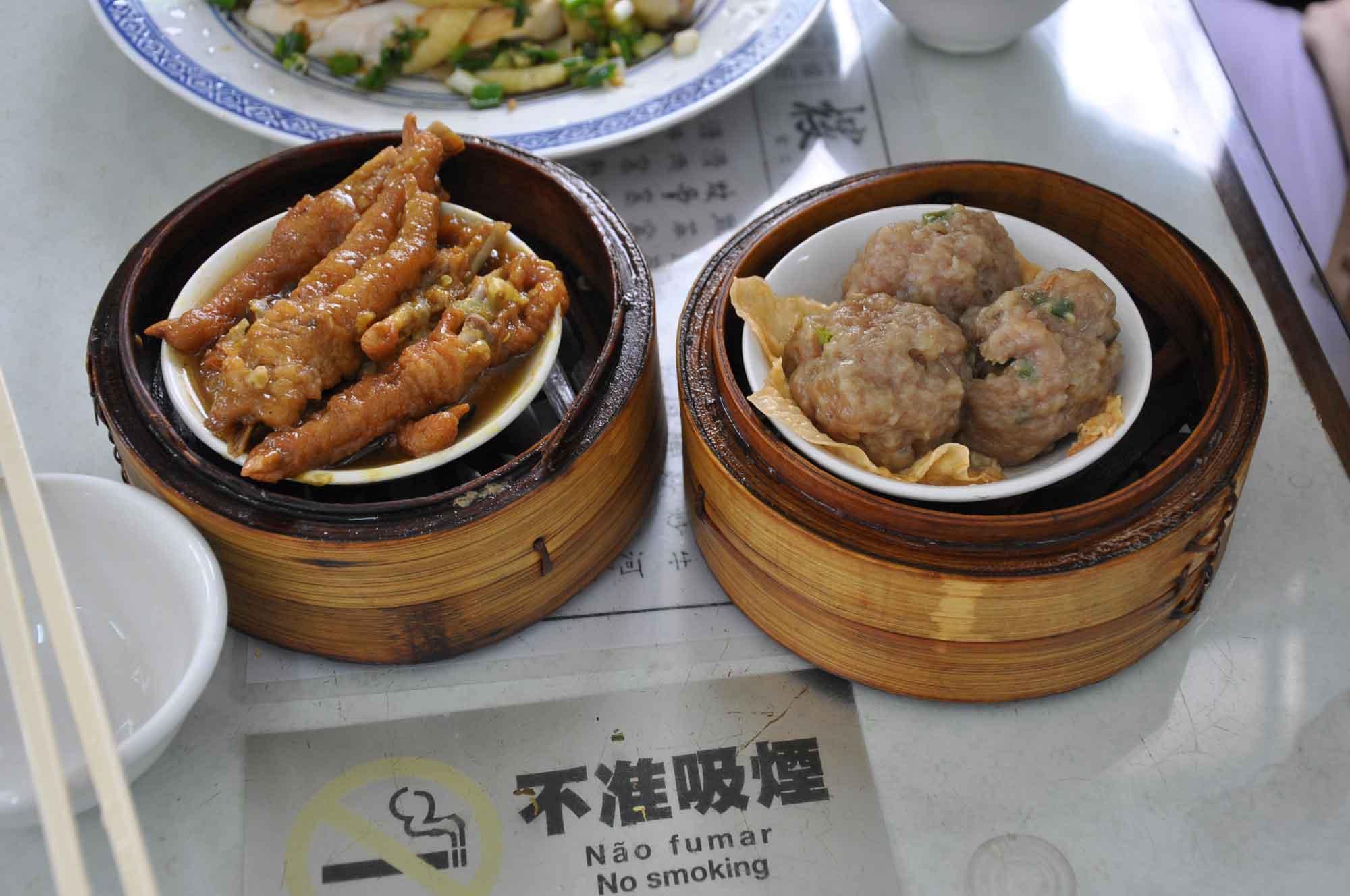 Long Wa Teahouse Steamed Pork Ribs and Chicken Feet