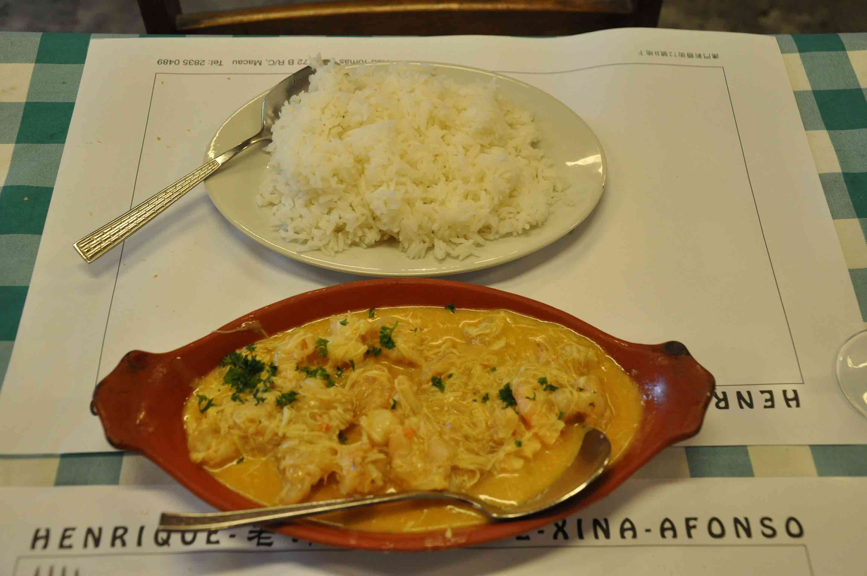 Cafe Xina Macau crab curry
