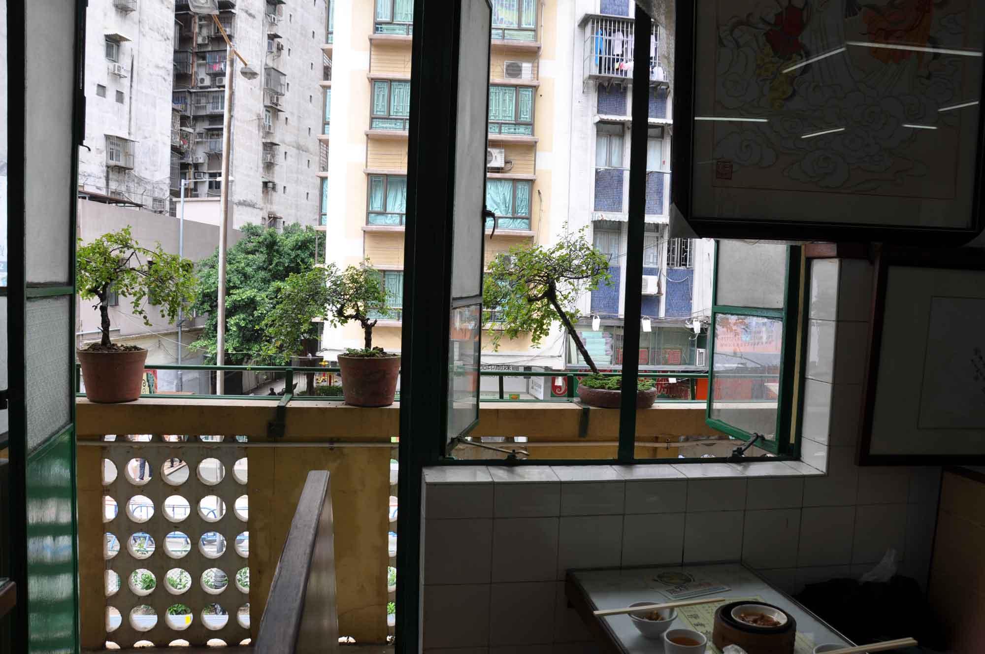 Long Wa Teahouse windows