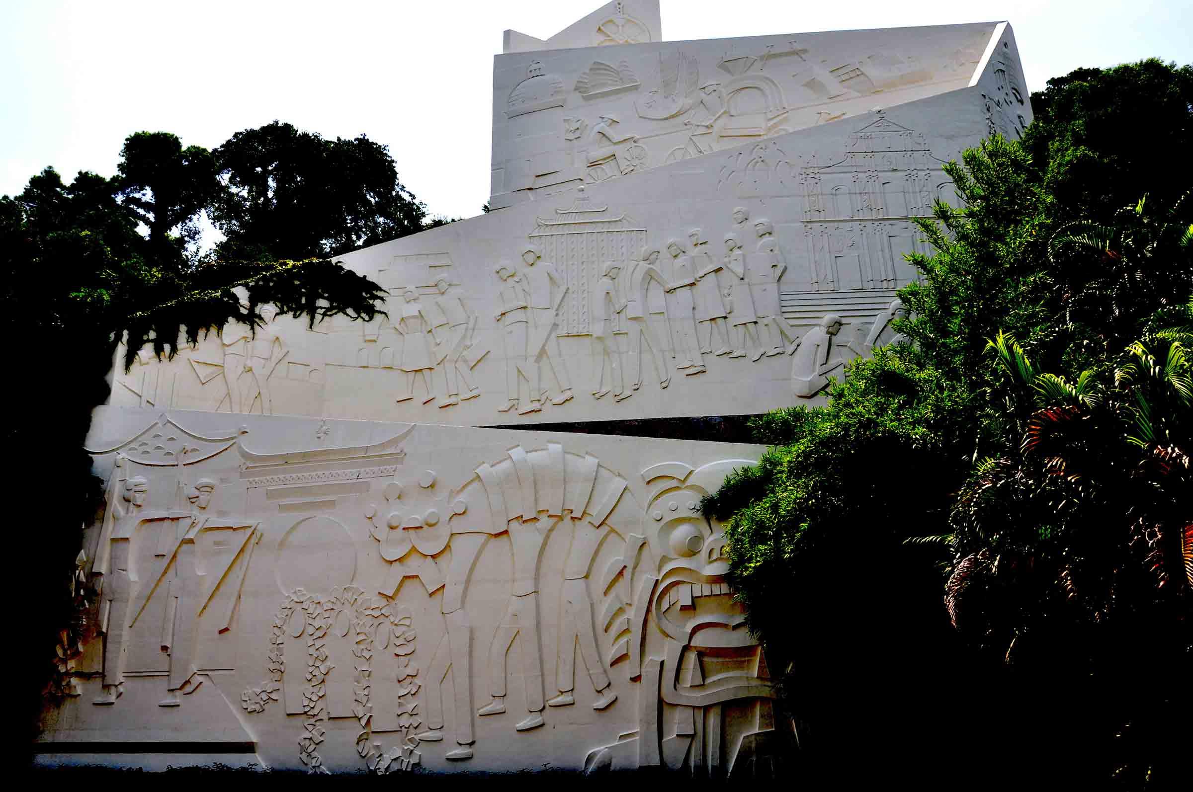 Taipa Pequena sculpture of Macanese life
