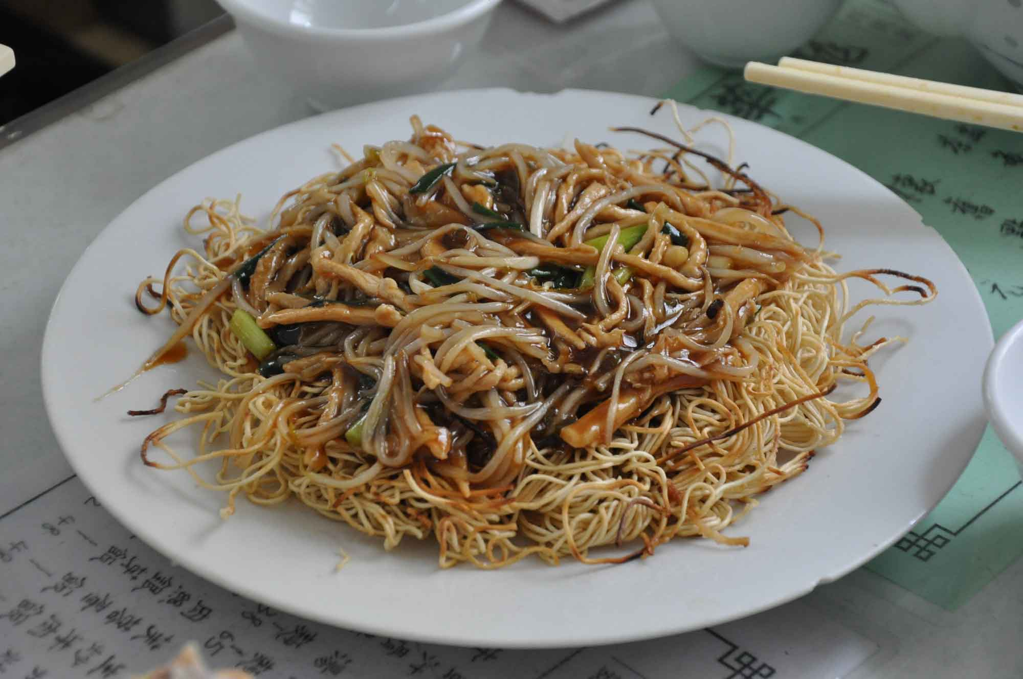 Best Macau Dishes: Stir Fried Noodles with Vegetables at Long Wa