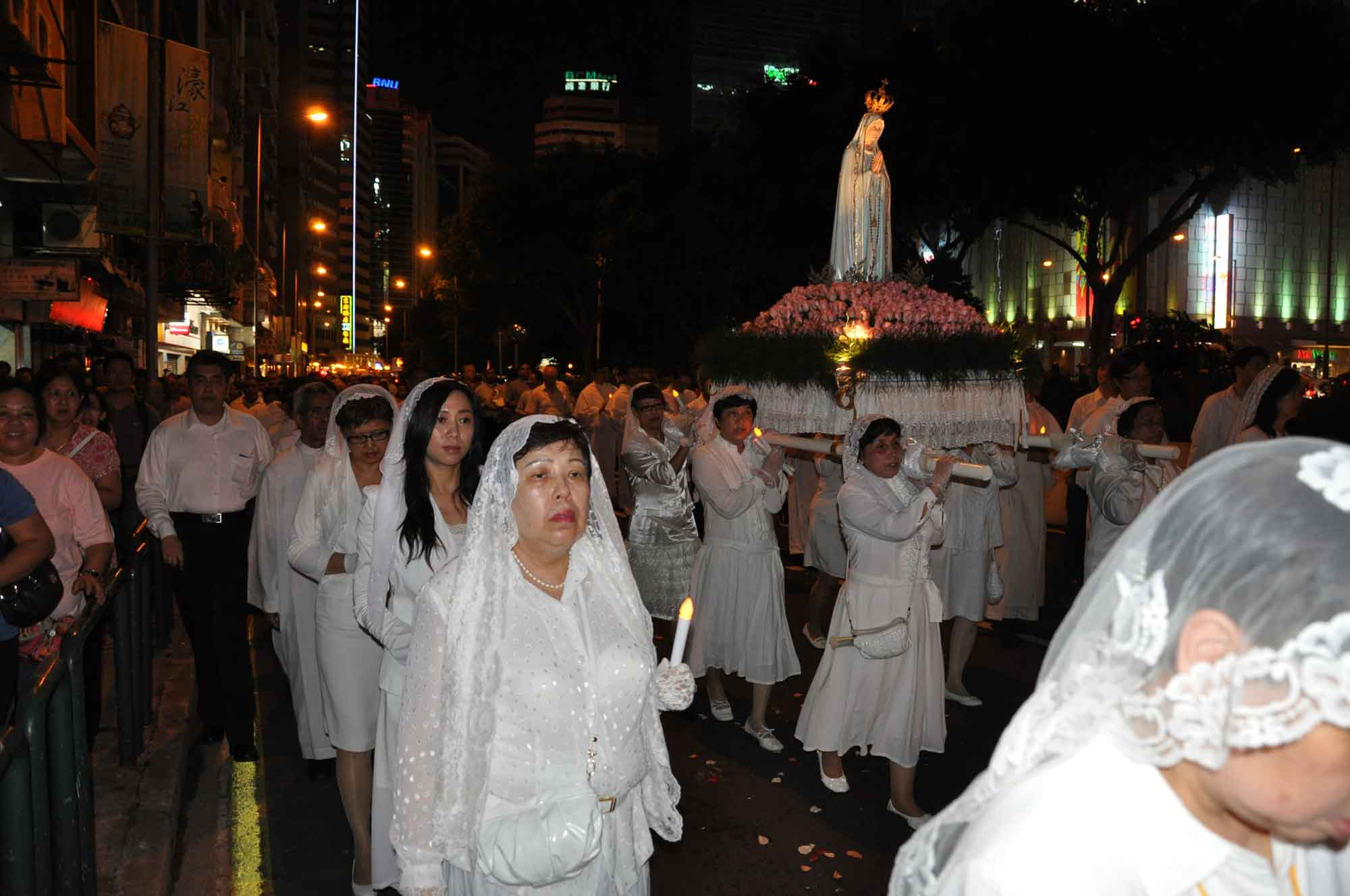 Macau's Our Lady of Fatima Procession on the Praia Grande