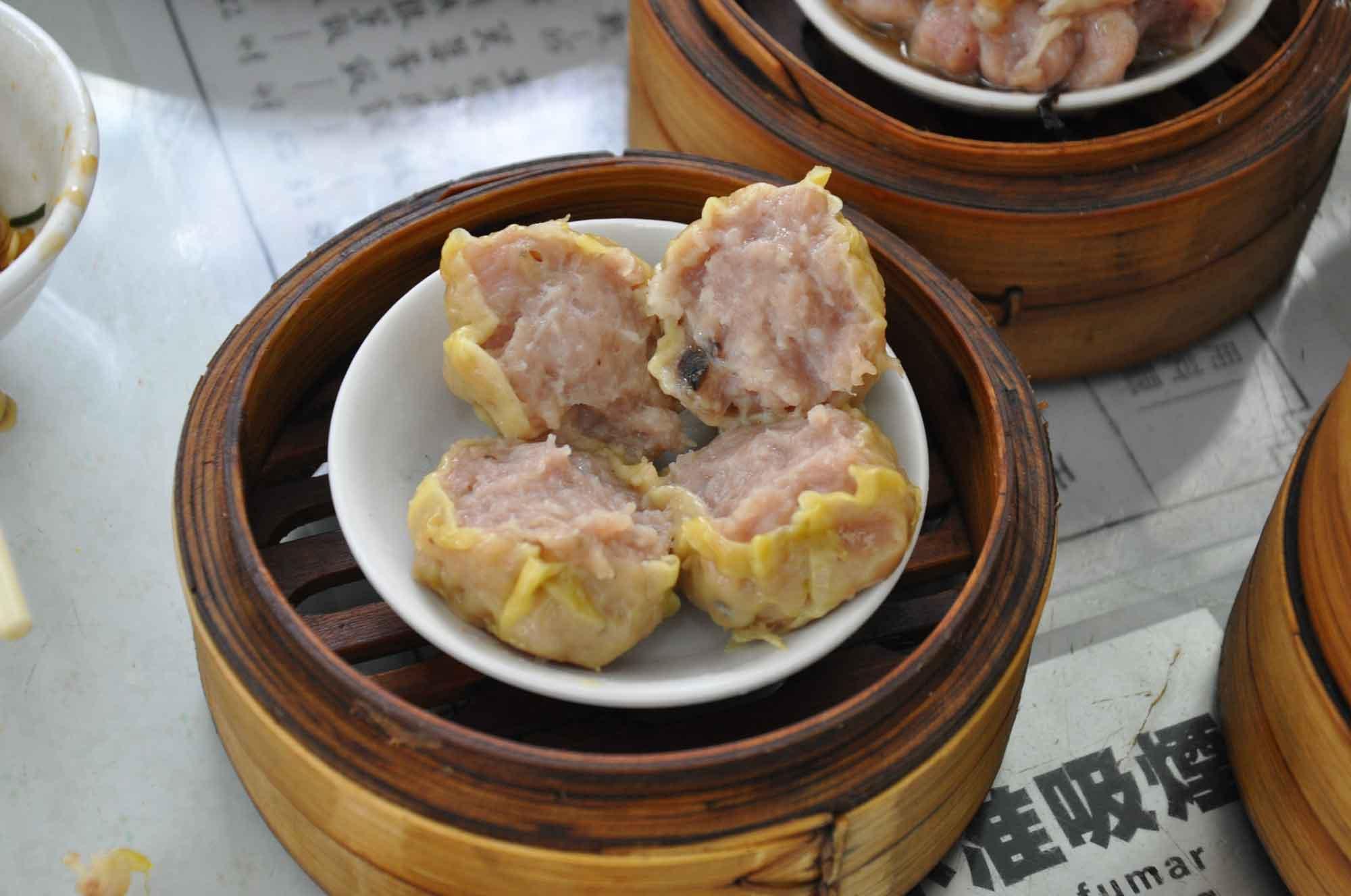 Long Wa Teahouse steamed pork dumplings
