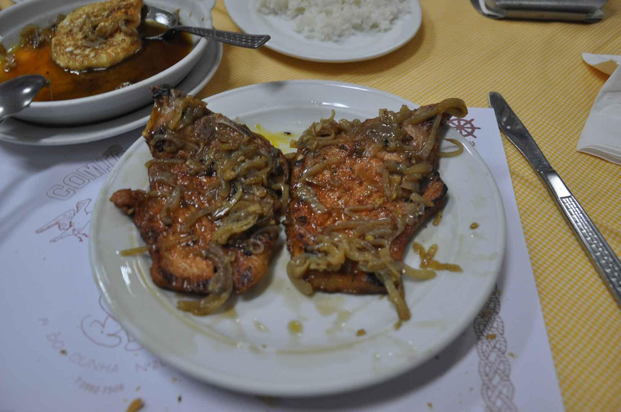 O Santos Macau pork chop with onions