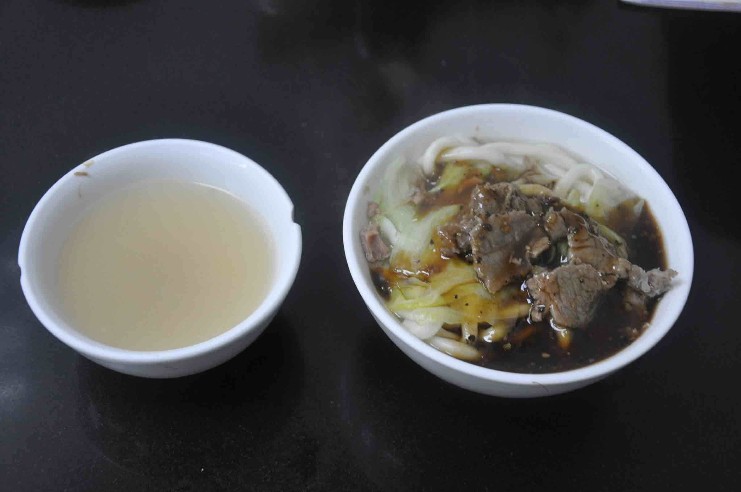 Peking Dumplings bone soup and black pepper beef noodles