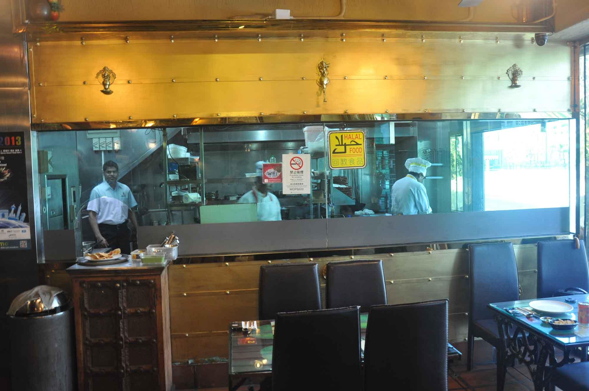 Indian Garden Macau kitchen