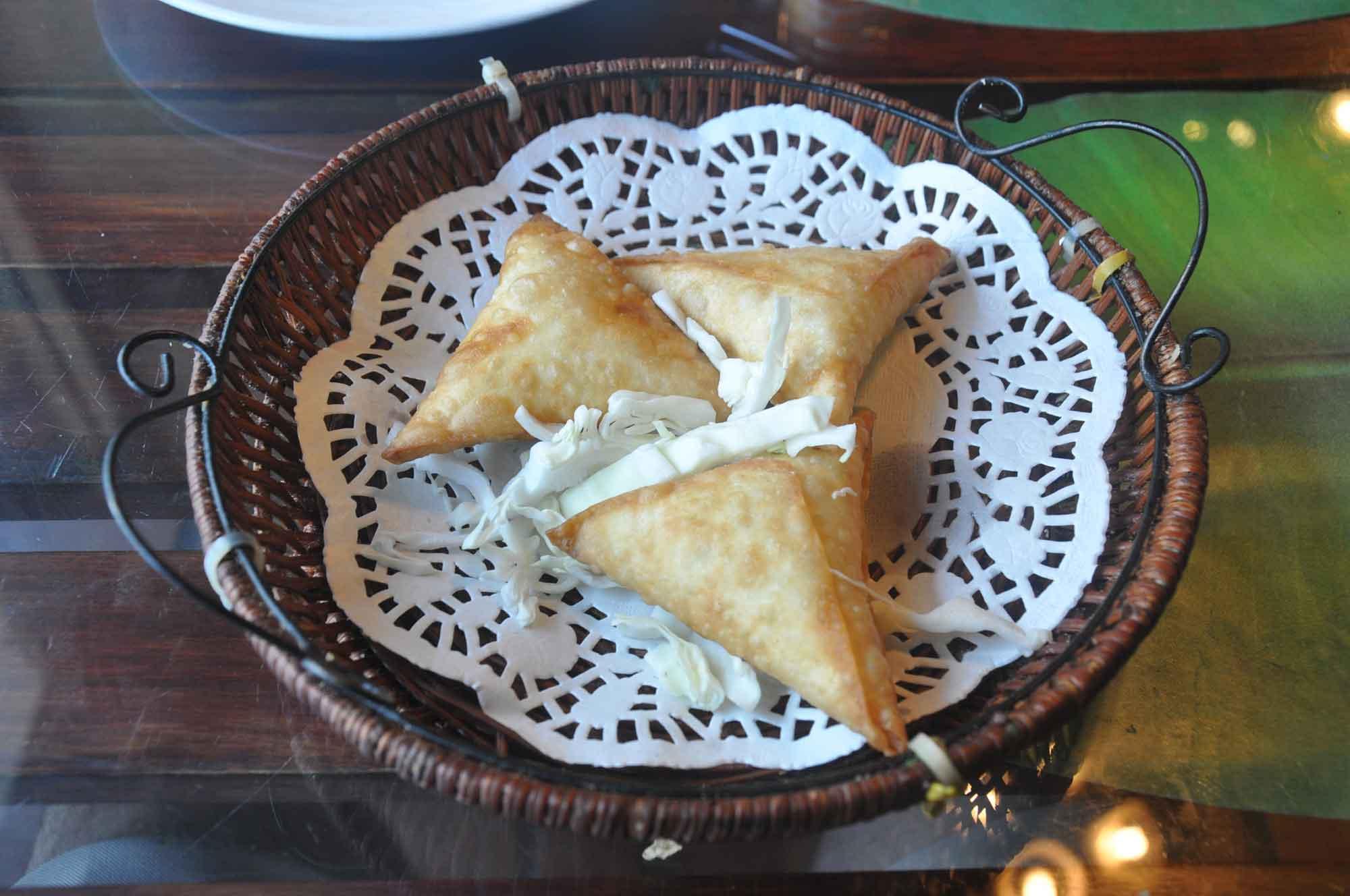 Indian Garden Macau chicken samosa