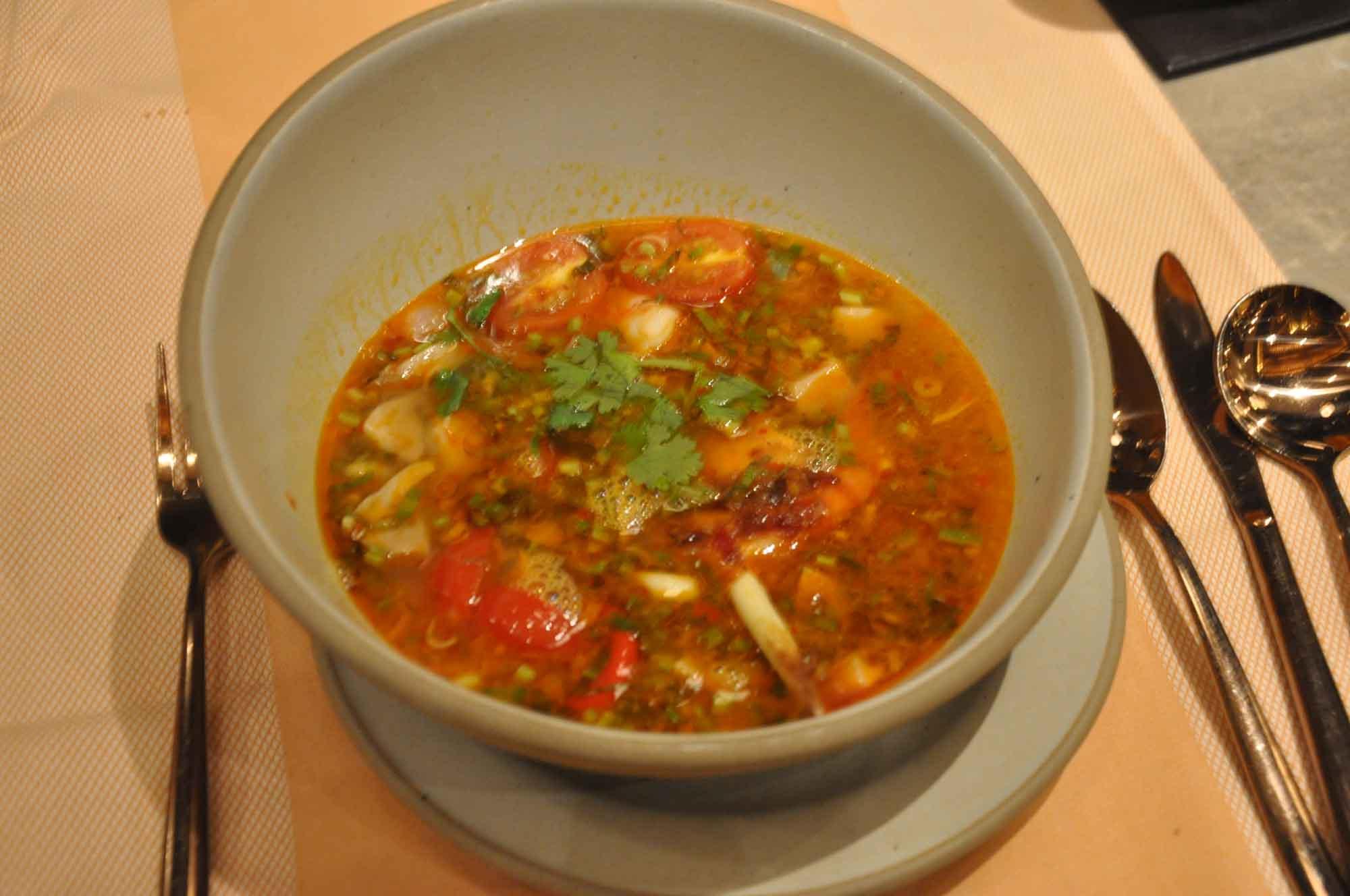 Saffron Macau Tom Yum Soup