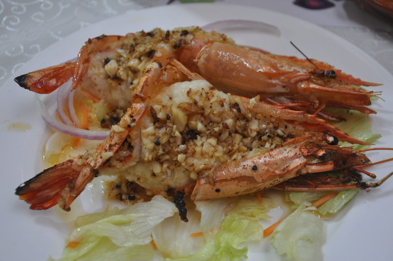 Dom Galo Macau garlic prawns