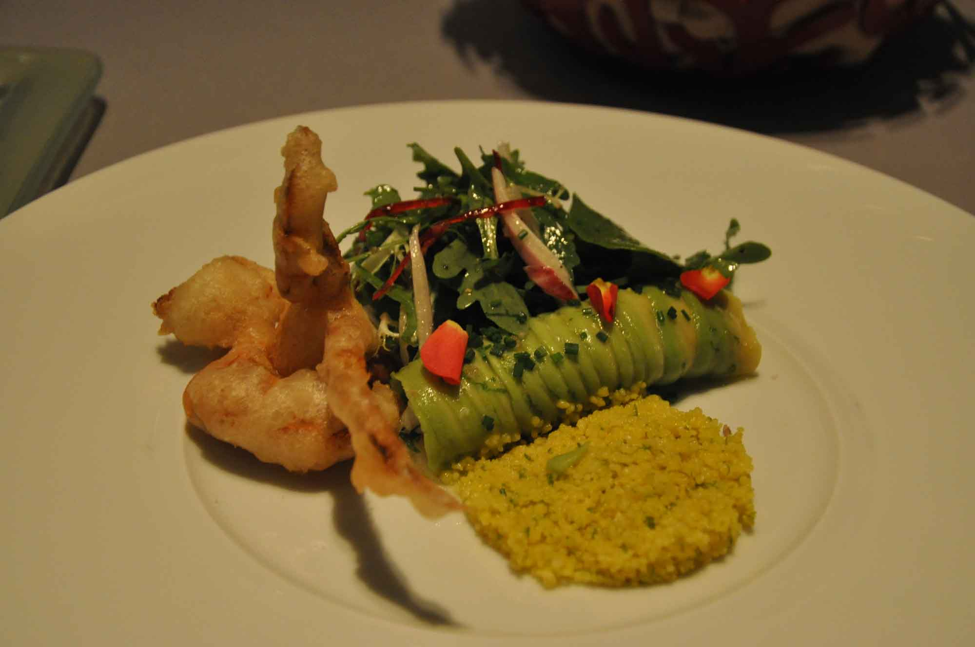 Belon Macau spanner crab salad