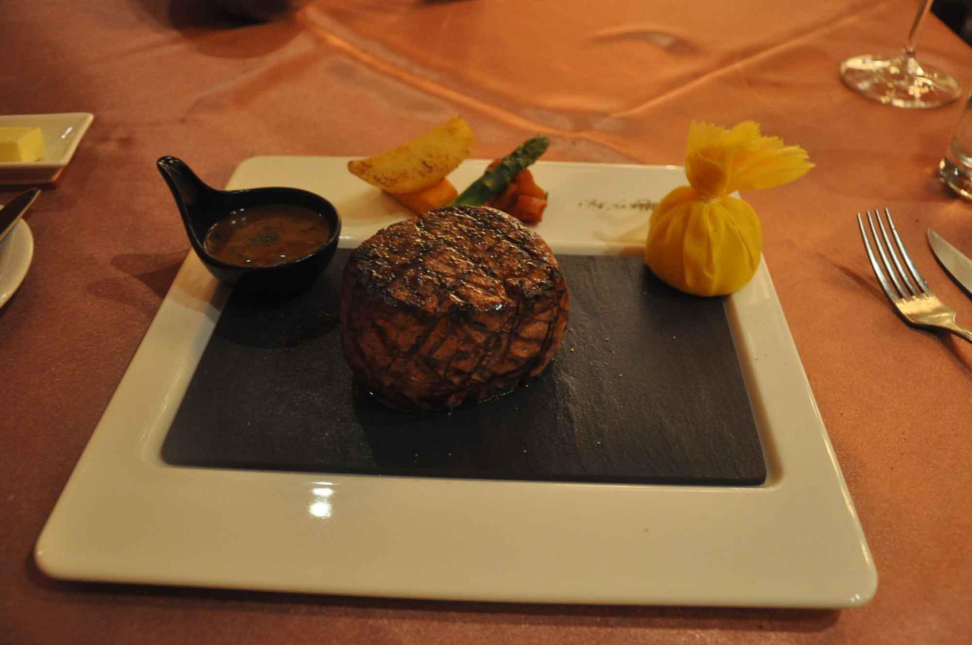 Copa Steakhouse 12 ounce filet mignon
